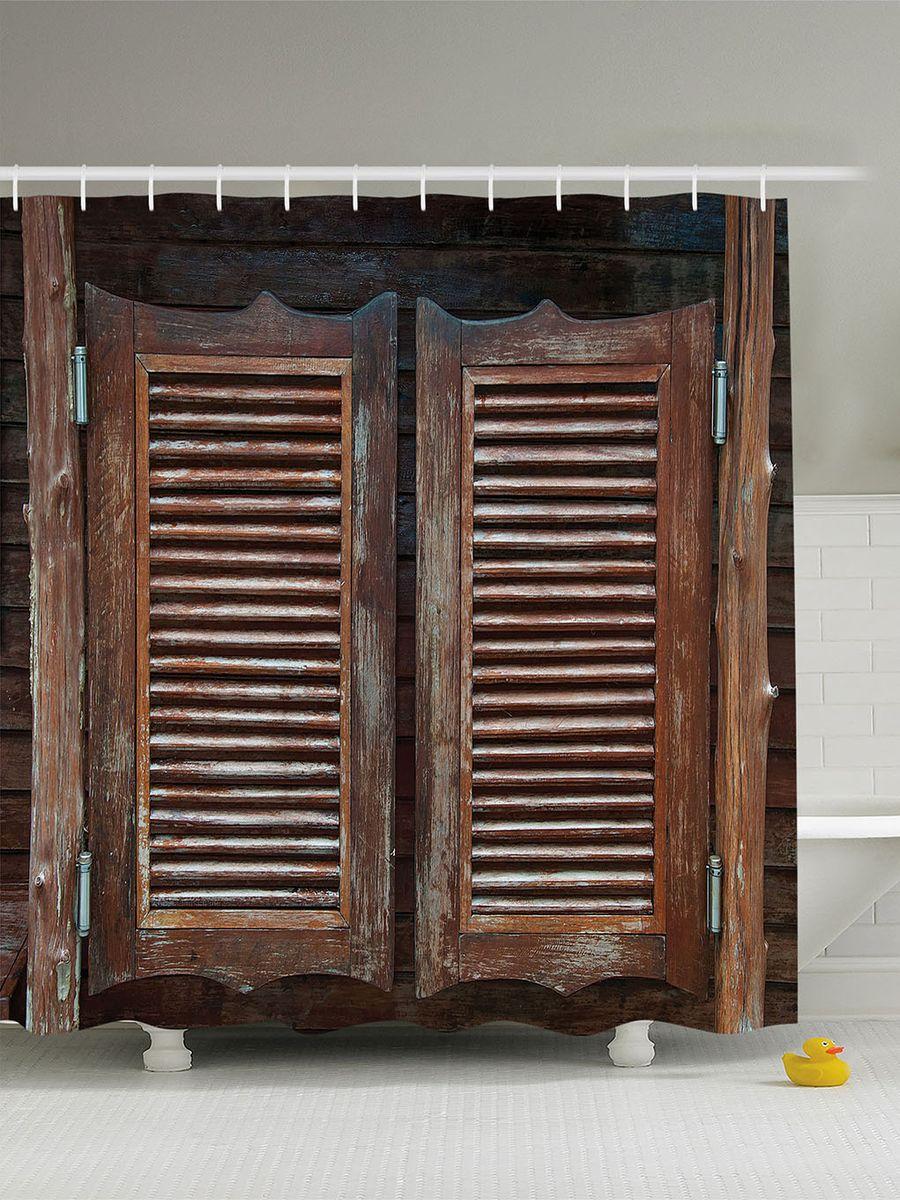 Штора для ванной комнаты Magic Lady Деревянные двери таверны, 180 х 200 смшв_10242Штора Magic Lady Деревянные двери таверны, изготовленная из высококачественного сатена (полиэстер 100%), отлично дополнит любой интерьер ванной комнаты. При изготовлении используются специальные гипоаллергенные чернила для прямой печати по ткани, безопасные для человека. В комплекте: 1 штора, 12 крючков. Обращаем ваше внимание, фактический цвет изделия может незначительно отличаться от представленного на фото.