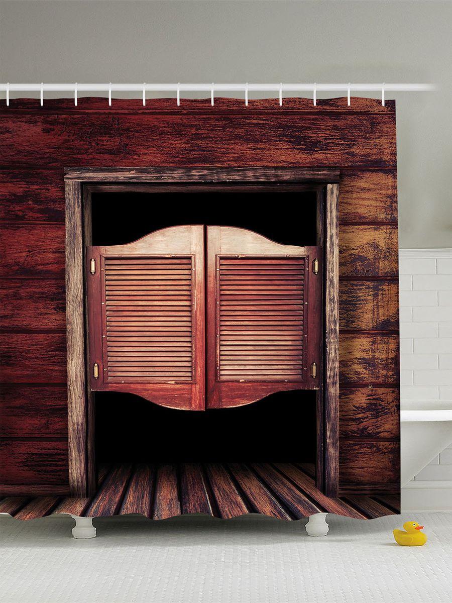 Штора для ванной комнаты Magic Lady Салун, 180 х 200 смшв_10243Штора Magic Lady Салун, изготовленная из высококачественного сатена (полиэстер 100%), отлично дополнит любой интерьер ванной комнаты. При изготовлении используются специальные гипоаллергенные чернила для прямой печати по ткани, безопасные для человека. В комплекте: 1 штора, 12 крючков. Обращаем ваше внимание, фактический цвет изделия может незначительно отличаться от представленного на фото.