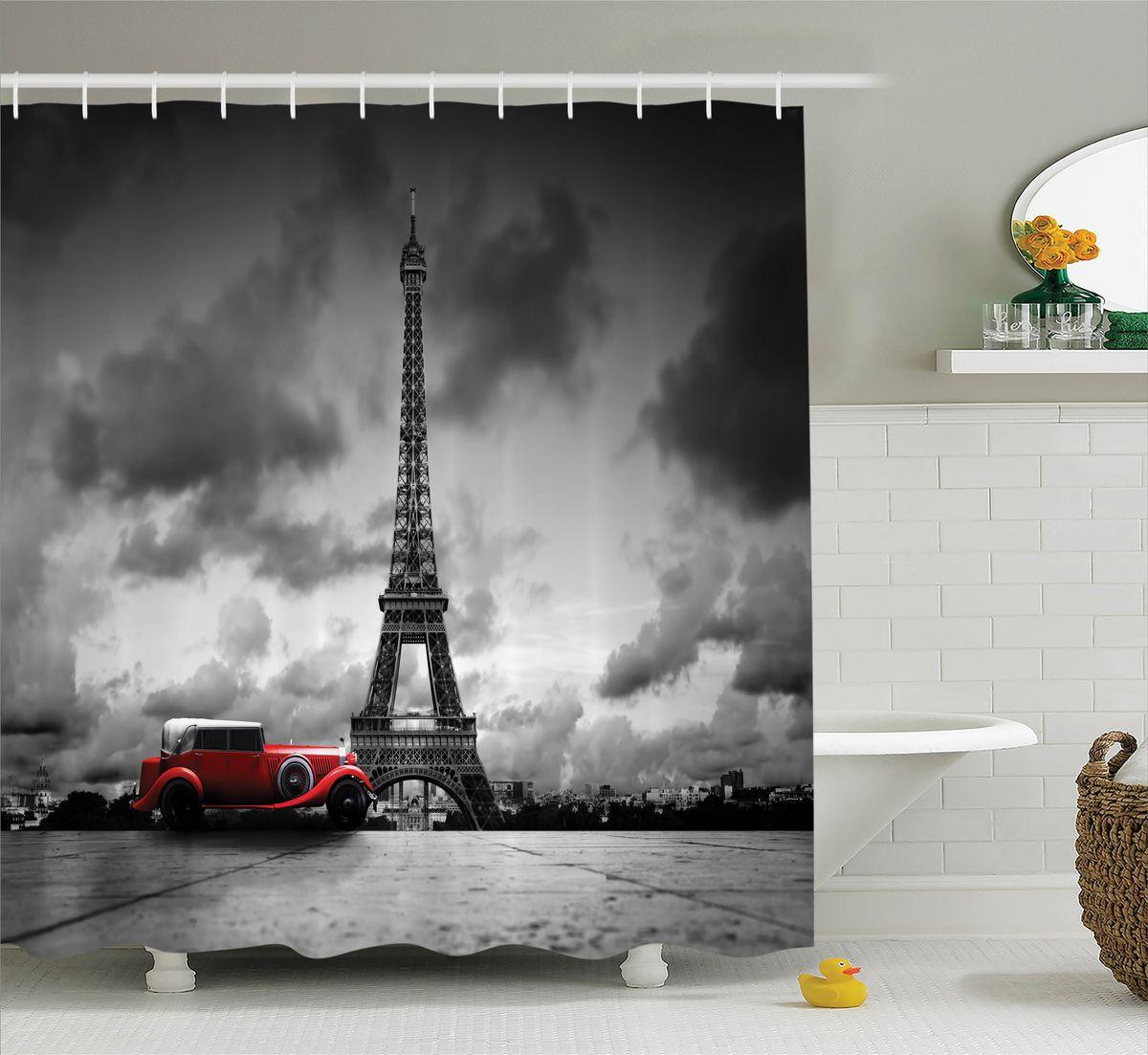 Штора для ванной комнаты Magic Lady Пасмурный день в Париже, 180 х 200 смшв_11322Штора Magic Lady Пасмурный день в Париже, изготовленная из высококачественного сатена (полиэстер 100%), отлично дополнит любой интерьер ванной комнаты. При изготовлении используются специальные гипоаллергенные чернила для прямой печати по ткани, безопасные для человека. В комплекте: 1 штора, 12 крючков. Обращаем ваше внимание, фактический цвет изделия может незначительно отличаться от представленного на фото.