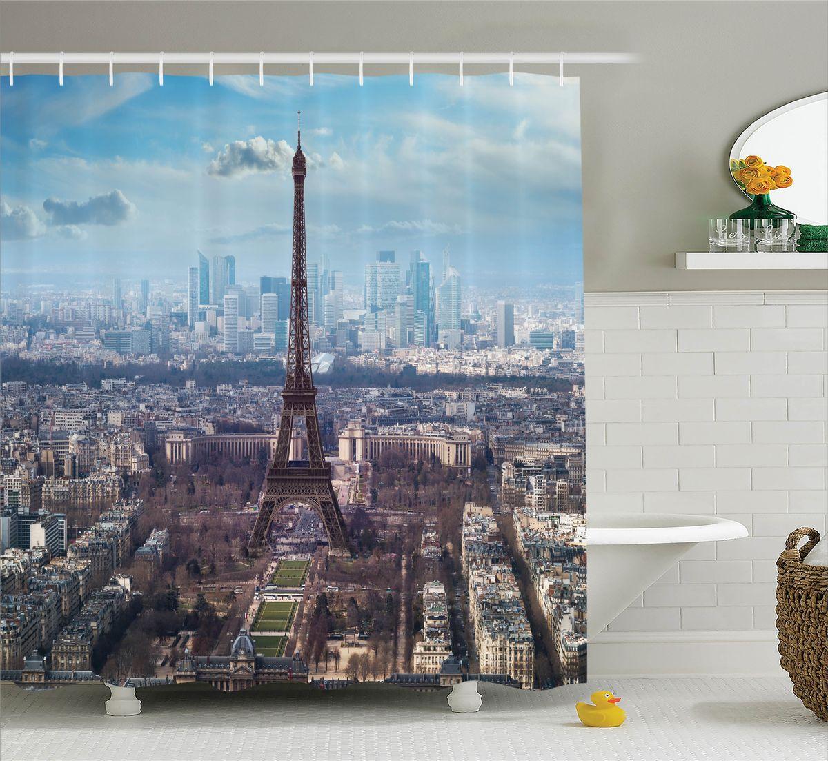 Штора для ванной комнаты Magic Lady Ранняя весна в Париже, 180 х 200 смшв_11326Штора Magic Lady Ранняя весна в Париже, изготовленная из высококачественного сатена (полиэстер 100%), отлично дополнит любой интерьер ванной комнаты. При изготовлении используются специальные гипоаллергенные чернила для прямой печати по ткани, безопасные для человека. В комплекте: 1 штора, 12 крючков. Обращаем ваше внимание, фактический цвет изделия может незначительно отличаться от представленного на фото.