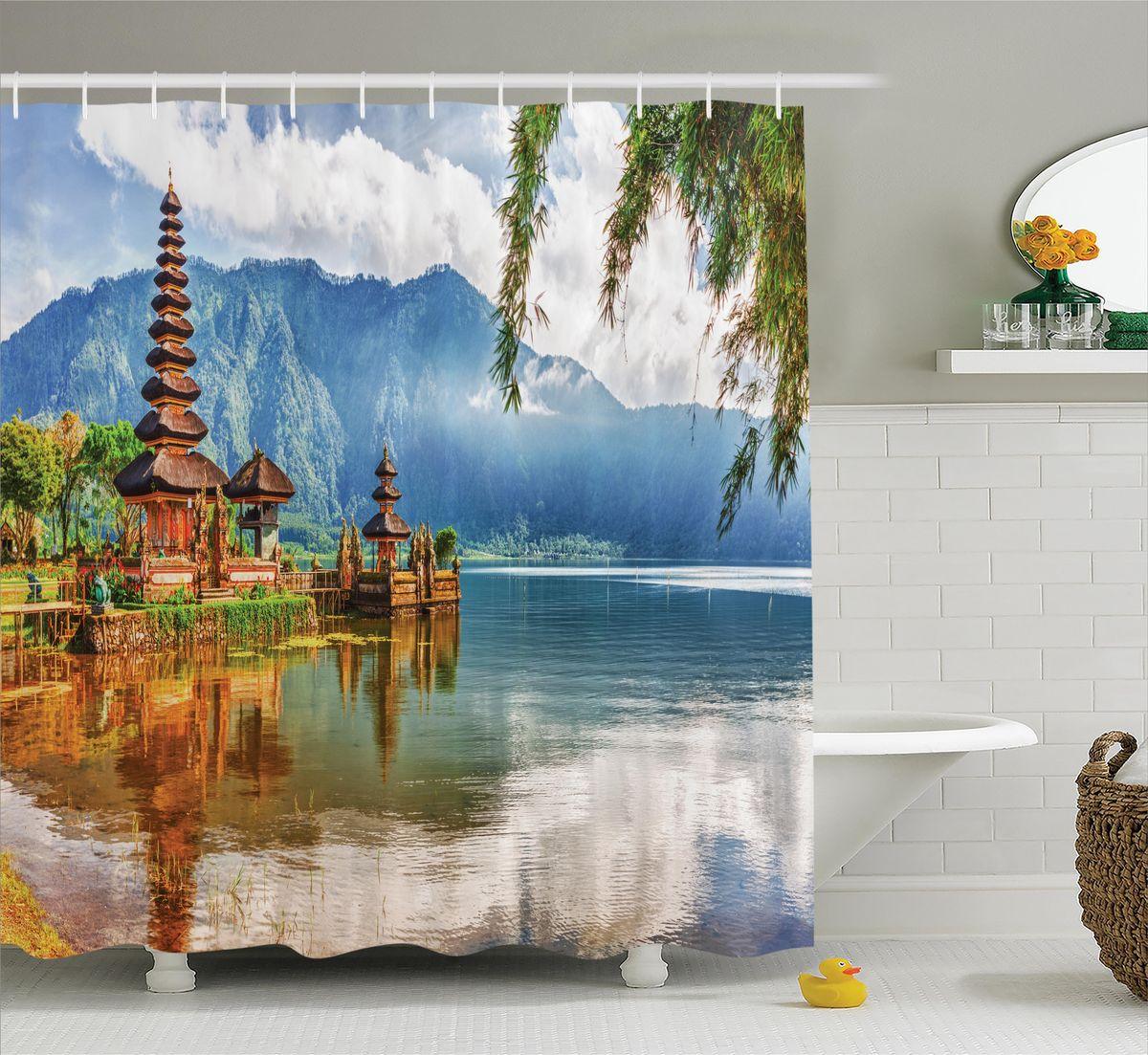 Штора для ванной комнаты Magic Lady Деревянная пагода над водой, 180 х 200 смшв_12249Штора Magic Lady Деревянная пагода над водой, изготовленная из высококачественного сатена (полиэстер 100%), отлично дополнит любой интерьер ванной комнаты. При изготовлении используются специальные гипоаллергенные чернила для прямой печати по ткани, безопасные для человека. В комплекте: 1 штора, 12 крючков. Обращаем ваше внимание, фактический цвет изделия может незначительно отличаться от представленного на фото.