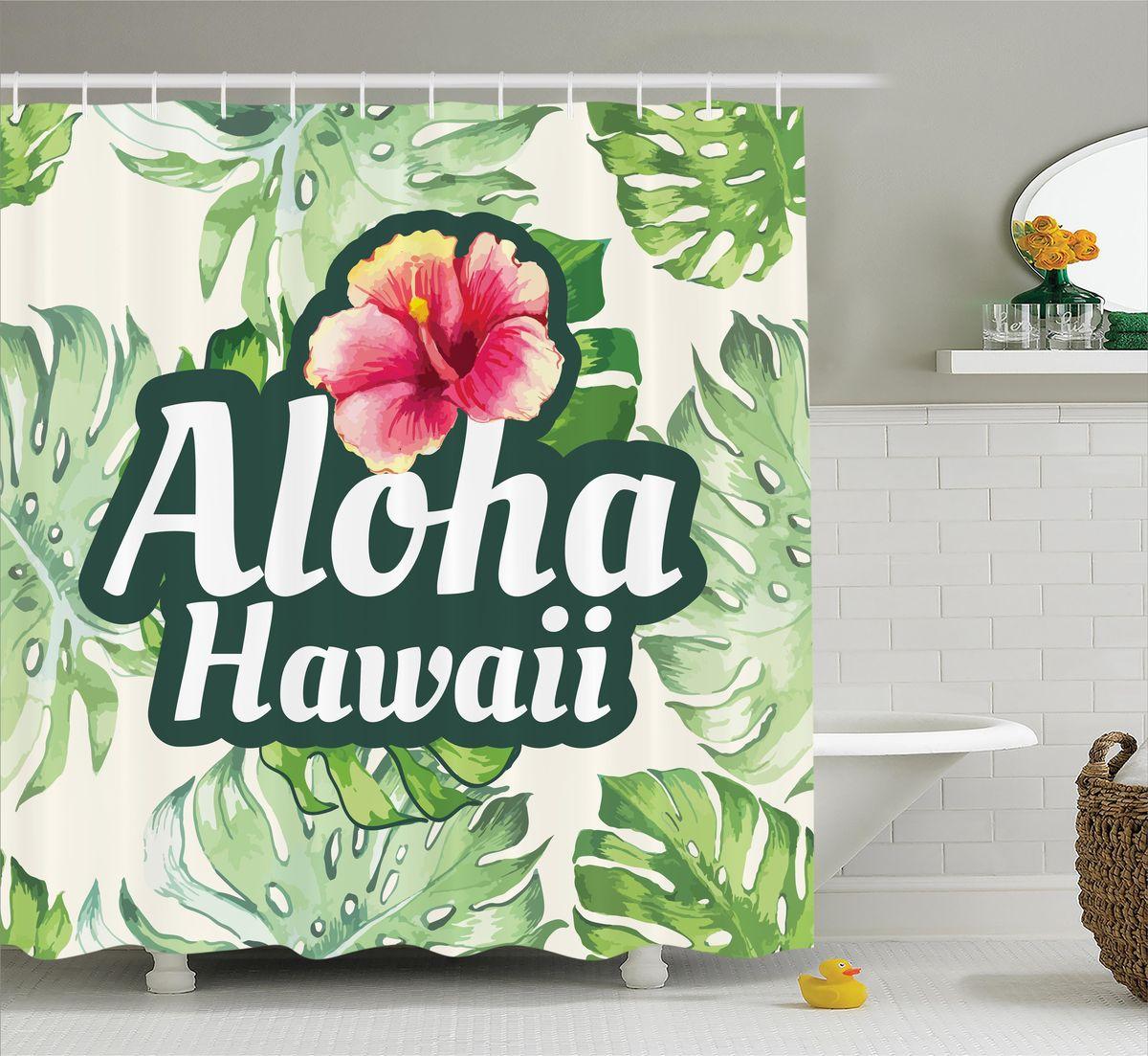 Штора для ванной комнаты Magic Lady Aloha. Hawaii, 180 х 200 смшв_12274Штора Magic Lady Aloha. Hawaii, изготовленная из высококачественного сатена (полиэстер 100%), отлично дополнит любой интерьер ванной комнаты. При изготовлении используются специальные гипоаллергенные чернила для прямой печати по ткани, безопасные для человека. В комплекте: 1 штора, 12 крючков. Обращаем ваше внимание, фактический цвет изделия может незначительно отличаться от представленного на фото.