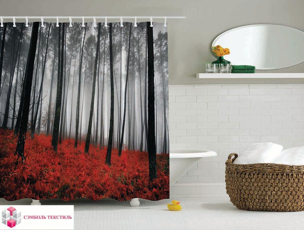 Штора для ванной комнаты Magic Lady Красный лес, 180 х 200 смшв_3438Штора Magic Lady Красный лес, изготовленная из высококачественного сатена (полиэстер 100%), отлично дополнит любой интерьер ванной комнаты. При изготовлении используются специальные гипоаллергенные чернила для прямой печати по ткани, безопасные для человека. В комплекте: 1 штора, 12 крючков. Обращаем ваше внимание, фактический цвет изделия может незначительно отличаться от представленного на фото.