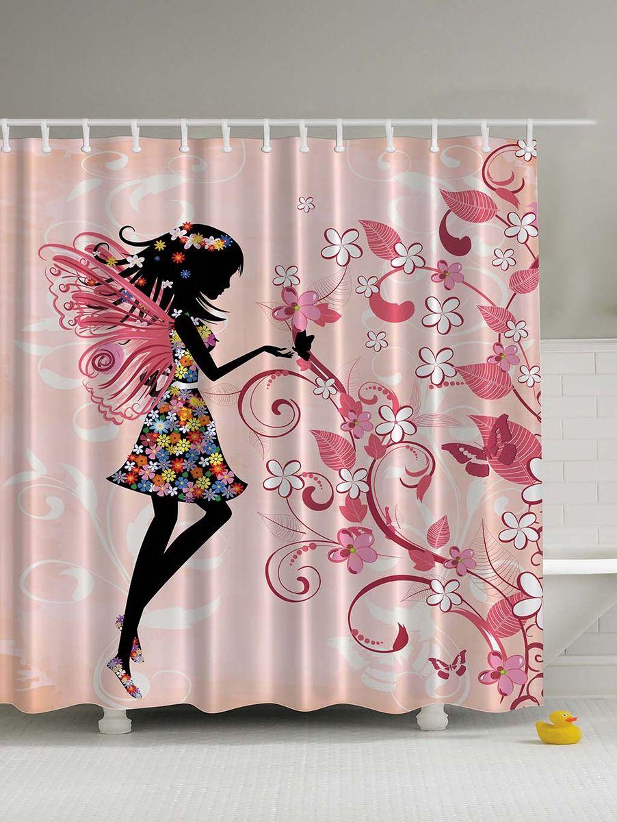 Штора для ванной комнаты Magic Lady Цветочная фея у цветущего дерева, 180 х 200 смшв_4905Штора Magic Lady Цветочная фея у цветущего дерева, изготовленная из высококачественного сатена (полиэстер 100%), отлично дополнит любой интерьер ванной комнаты. При изготовлении используются специальные гипоаллергенные чернила для прямой печати по ткани, безопасные для человека. В комплекте: 1 штора, 12 крючков. Обращаем ваше внимание, фактический цвет изделия может незначительно отличаться от представленного на фото.