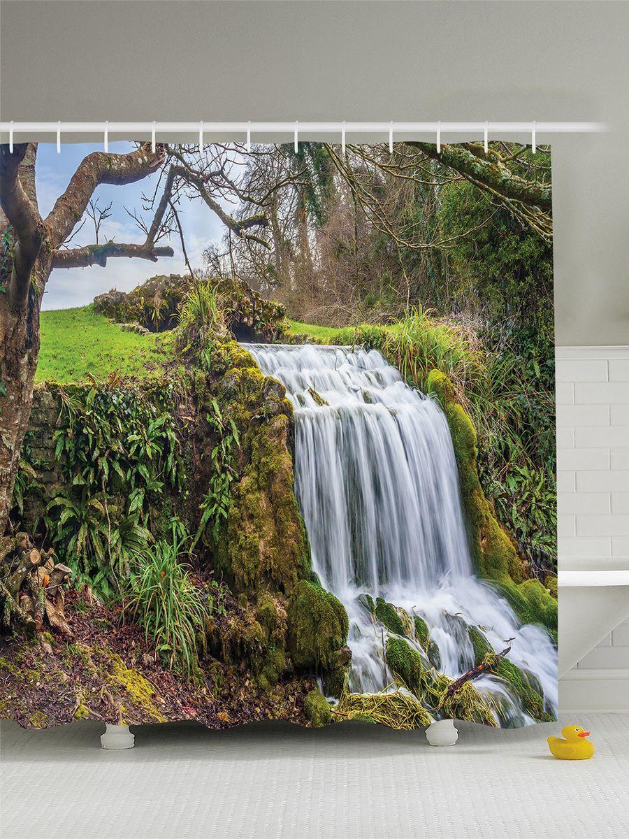 Штора для ванной комнаты Magic Lady Шепот водопада, 180 х 200 смшв_6388Штора Magic Lady Шепот водопада, изготовленная из высококачественного сатена (полиэстер 100%), отлично дополнит любой интерьер ванной комнаты. При изготовлении используются специальные гипоаллергенные чернила для прямой печати по ткани, безопасные для человека. В комплекте: 1 штора, 12 крючков. Обращаем ваше внимание, фактический цвет изделия может незначительно отличаться от представленного на фото.