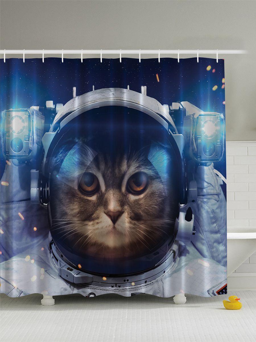 Штора для ванной комнаты Magic Lady Кошка в космосе, 180 х 200 смшв_6851Штора Magic Lady Кошка в космосе, изготовленная из высококачественного сатена (полиэстер 100%), отлично дополнит любой интерьер ванной комнаты. При изготовлении используются специальные гипоаллергенные чернила для прямой печати по ткани, безопасные для человека. В комплекте: 1 штора, 12 крючков. Обращаем ваше внимание, фактический цвет изделия может незначительно отличаться от представленного на фото.