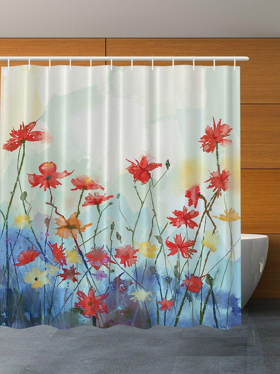 Штора для ванной комнаты Magic Lady Полевые цветы. Акварель, 180 х 200 смшв_7110Штора Magic Lady Полевые цветы. Акварель, изготовленная из высококачественного сатена (полиэстер 100%), отлично дополнит любой интерьер ванной комнаты. При изготовлении используются специальные гипоаллергенные чернила для прямой печати по ткани, безопасные для человека. В комплекте: 1 штора, 12 крючков. Обращаем ваше внимание, фактический цвет изделия может незначительно отличаться от представленного на фото.