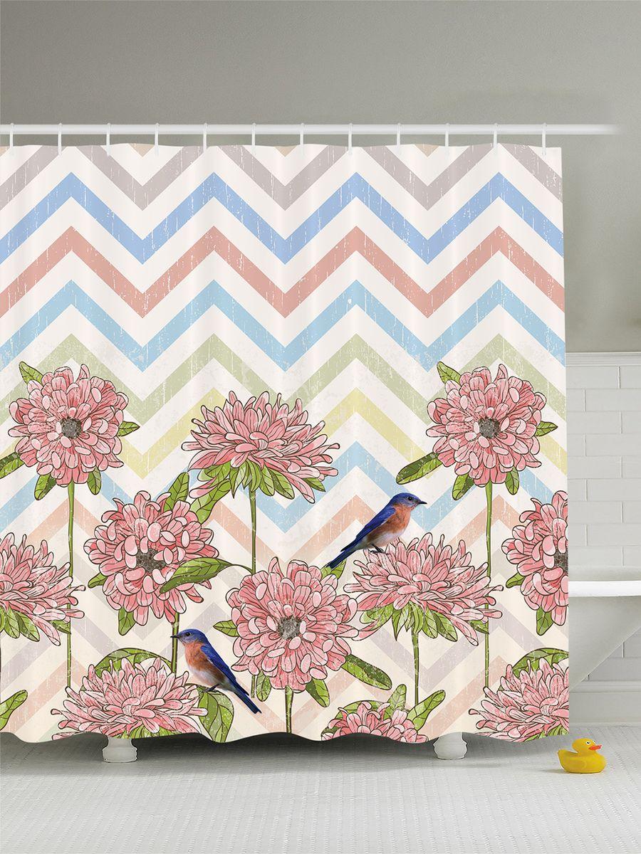 Штора для ванной комнаты Magic Lady Цветы и птицы, 180 х 200 смшв_7150Штора Magic Lady Цветы и птицы, изготовленная из высококачественного сатена (полиэстер 100%), отлично дополнит любой интерьер ванной комнаты. При изготовлении используются специальные гипоаллергенные чернила для прямой печати по ткани, безопасные для человека. В комплекте: 1 штора, 12 крючков. Обращаем ваше внимание, фактический цвет изделия может незначительно отличаться от представленного на фото.
