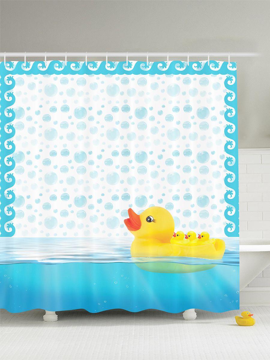 Штора для ванной комнаты Magic Lady Резиновые уточки, 180 х 200 смшв_7427Штора Magic Lady Резиновые уточки, изготовленная из высококачественного сатена (полиэстер 100%), отлично дополнит любой интерьер ванной комнаты. При изготовлении используются специальные гипоаллергенные чернила для прямой печати по ткани, безопасные для человека. В комплекте: 1 штора, 12 крючков. Обращаем ваше внимание, фактический цвет изделия может незначительно отличаться от представленного на фото.