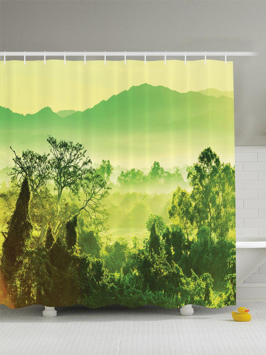 Штора для ванной комнаты Magic Lady Джунгли в зеленом тумане, 180 х 200 смшв_7522Штора Magic Lady Джунгли в зеленом тумане, изготовленная из высококачественного сатена (полиэстер 100%), отлично дополнит любой интерьер ванной комнаты. При изготовлении используются специальные гипоаллергенные чернила для прямой печати по ткани, безопасные для человека. В комплекте: 1 штора, 12 крючков. Обращаем ваше внимание, фактический цвет изделия может незначительно отличаться от представленного на фото.