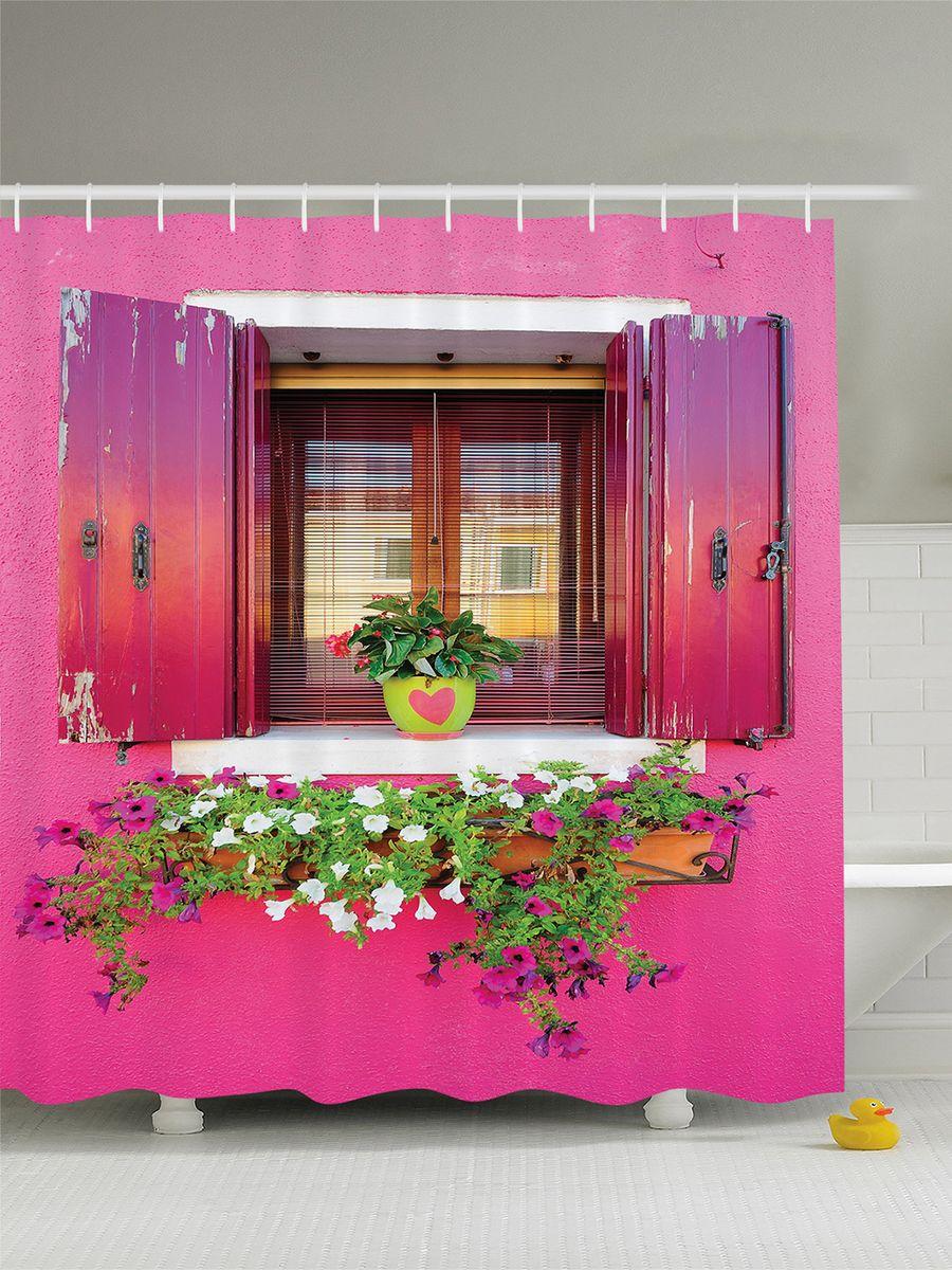 Штора для ванной комнаты Magic Lady Цветы на розовом окне, 180 х 200 смшв_7524Штора Magic Lady Цветы на розовом окне, изготовленная из высококачественного сатена (полиэстер 100%), отлично дополнит любой интерьер ванной комнаты. При изготовлении используются специальные гипоаллергенные чернила для прямой печати по ткани, безопасные для человека. В комплекте: 1 штора, 12 крючков. Обращаем ваше внимание, фактический цвет изделия может незначительно отличаться от представленного на фото.