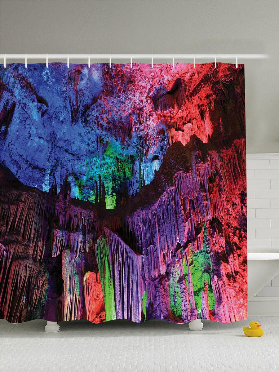 Штора для ванной комнаты Magic Lady Цветные сталактиты, 180 х 200 смшв_7564Штора Magic Lady Цветные сталактиты, изготовленная из высококачественного сатена (полиэстер 100%), отлично дополнит любой интерьер ванной комнаты. При изготовлении используются специальные гипоаллергенные чернила для прямой печати по ткани, безопасные для человека. В комплекте: 1 штора, 12 крючков. Обращаем ваше внимание, фактический цвет изделия может незначительно отличаться от представленного на фото.