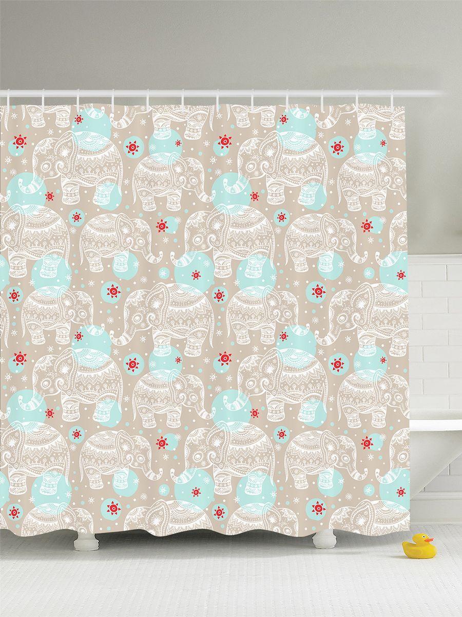 Штора для ванной комнаты Magic Lady Узорчатые слоники, 180 х 200 смшв_8168Штора Magic Lady Узорчатые слоники, изготовленная из высококачественного сатена (полиэстер 100%), отлично дополнит любой интерьер ванной комнаты. При изготовлении используются специальные гипоаллергенные чернила для прямой печати по ткани, безопасные для человека. В комплекте: 1 штора, 12 крючков. Обращаем ваше внимание, фактический цвет изделия может незначительно отличаться от представленного на фото.