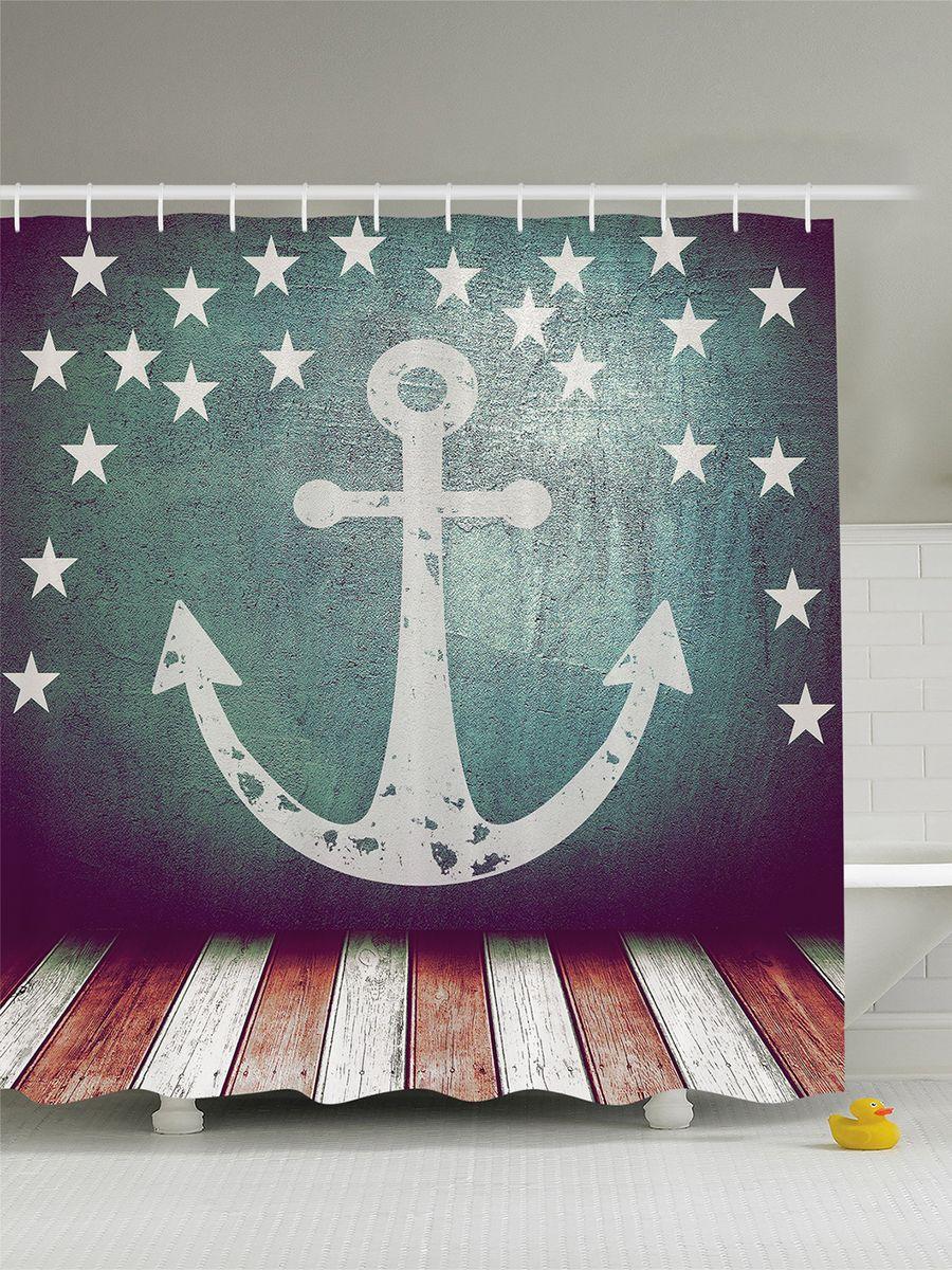 Штора для ванной комнаты Magic Lady Флаг со звездами и якорем над помостом, 180 х 200 смшв_8327Штора Magic Lady Флаг со звездами и якорем над помостом, изготовленная из высококачественного сатена (полиэстер 100%), отлично дополнит любой интерьер ванной комнаты. При изготовлении используются специальные гипоаллергенные чернила для прямой печати по ткани, безопасные для человека. В комплекте: 1 штора, 12 крючков. Обращаем ваше внимание, фактический цвет изделия может незначительно отличаться от представленного на фото.