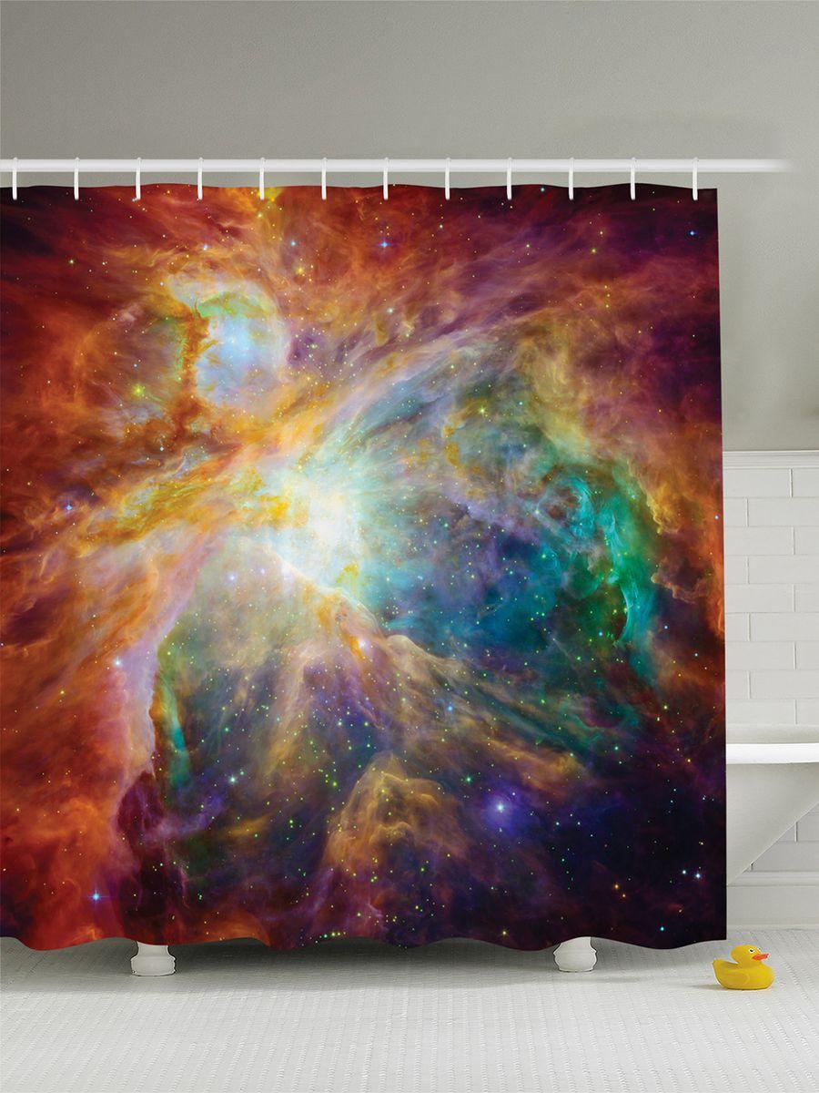 Штора для ванной комнаты Magic Lady Вселенная звезд. Космическое пространство, 180 х 200 смшв_8401Штора Magic Lady Вселенная звезд. Космическое пространство, изготовленная из высококачественного сатена (полиэстер 100%), отлично дополнит любой интерьер ванной комнаты. При изготовлении используются специальные гипоаллергенные чернила для прямой печати по ткани, безопасные для человека. В комплекте: 1 штора, 12 крючков. Обращаем ваше внимание, фактический цвет изделия может незначительно отличаться от представленного на фото.