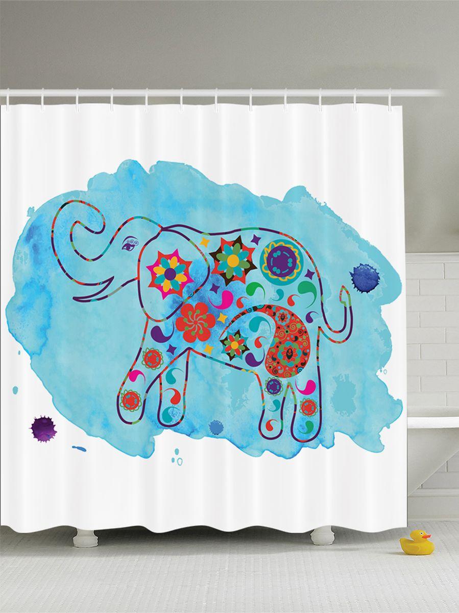 Штора для ванной комнаты Magic Lady Разноцветный слон, 180 х 200 смшв_8893Штора Magic Lady Разноцветный слон, изготовленная из высококачественного сатена (полиэстер 100%), отлично дополнит любой интерьер ванной комнаты. При изготовлении используются специальные гипоаллергенные чернила для прямой печати по ткани, безопасные для человека. В комплекте: 1 штора, 12 крючков. Обращаем ваше внимание, фактический цвет изделия может незначительно отличаться от представленного на фото.
