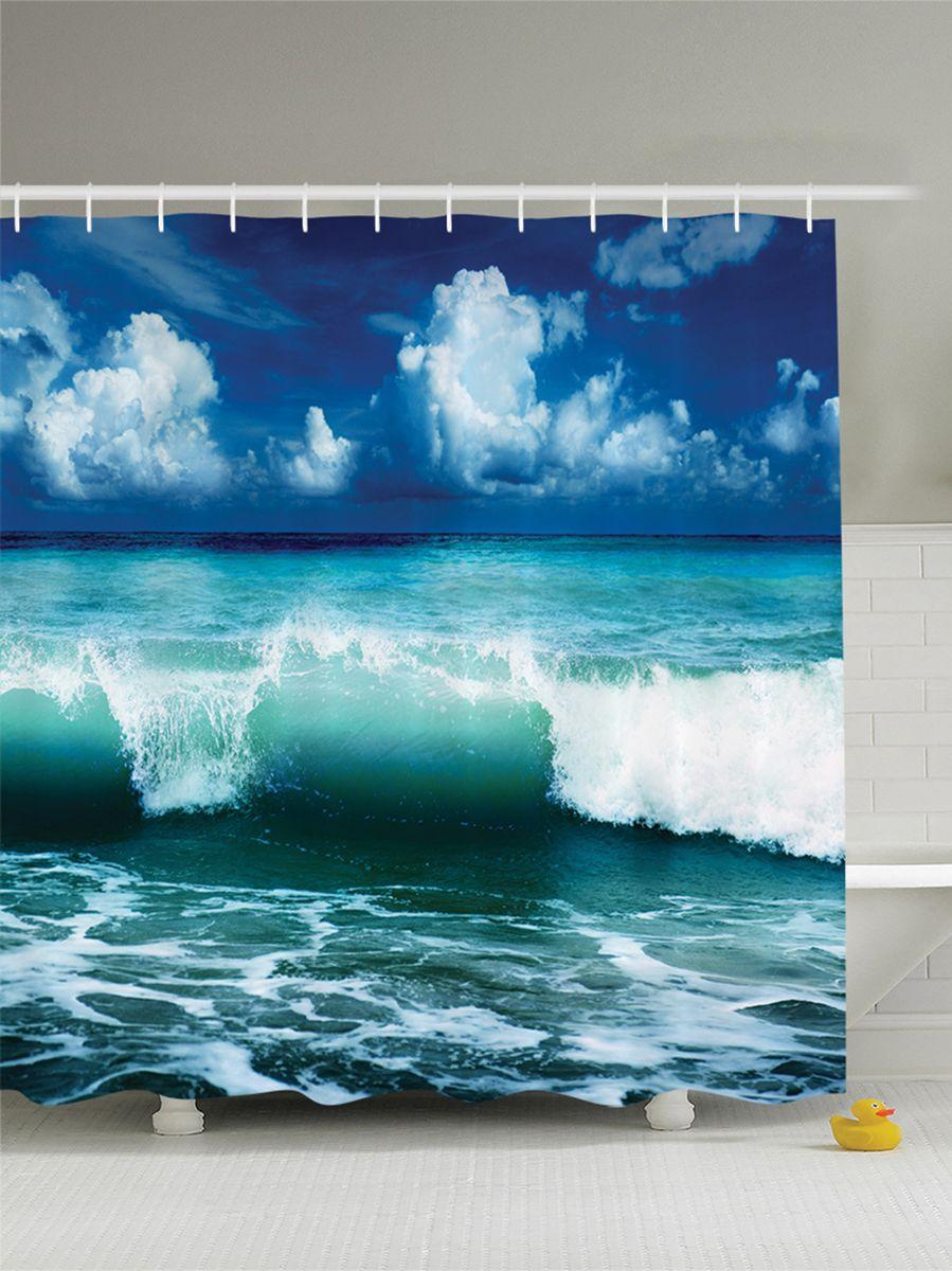 Штора для ванной комнаты Magic Lady Зеленая волна, 180 х 200 смшв_8975Штора Magic Lady Зеленая волна, изготовленная из высококачественного сатена (полиэстер 100%), отлично дополнит любой интерьер ванной комнаты. При изготовлении используются специальные гипоаллергенные чернила для прямой печати по ткани, безопасные для человека. В комплекте: 1 штора, 12 крючков. Обращаем ваше внимание, фактический цвет изделия может незначительно отличаться от представленного на фото.