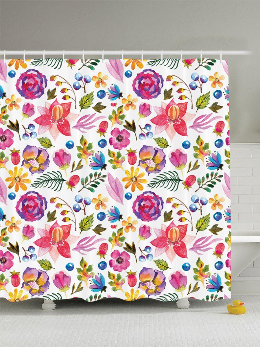 Штора для ванной комнаты Magic Lady Орнамент. Цветы, листья и ягоды, 180 х 200 смшв_9123Штора Magic Lady Орнамент. Цветы, листья и ягоды, изготовленная из высококачественного сатена (полиэстер 100%), отлично дополнит любой интерьер ванной комнаты. При изготовлении используются специальные гипоаллергенные чернила для прямой печати по ткани, безопасные для человека. В комплекте: 1 штора, 12 крючков. Обращаем ваше внимание, фактический цвет изделия может незначительно отличаться от представленного на фото.