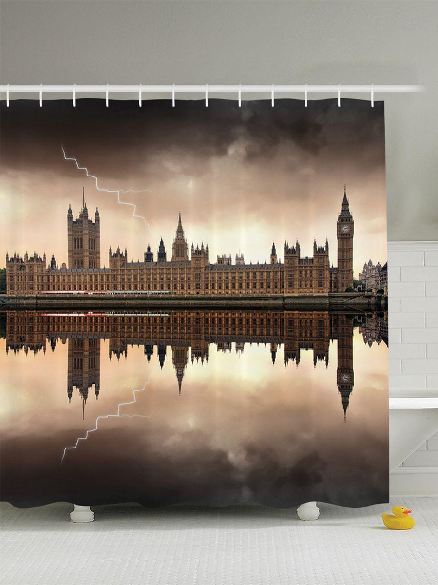 Штора для ванной комнаты Magic Lady Гроза над домом парламента в Лондоне. Биг Бен, 180 х 200 смшв_9397Штора Magic Lady Гроза над домом парламента в Лондоне. Биг Бен, изготовленная из высококачественного сатена (полиэстер 100%), отлично дополнит любой интерьер ванной комнаты. При изготовлении используются специальные гипоаллергенные чернила для прямой печати по ткани, безопасные для человека. В комплекте: 1 штора, 12 крючков. Обращаем ваше внимание, фактический цвет изделия может незначительно отличаться от представленного на фото.