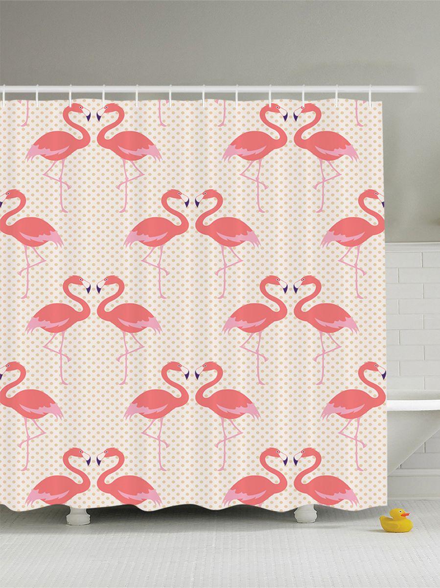 Штора для ванной комнаты Magic Lady Розовые фламинго, 180 х 200 смшв_9446Штора Magic Lady Розовые фламинго, изготовленная из высококачественного сатена (полиэстер 100%), отлично дополнит любой интерьер ванной комнаты. При изготовлении используются специальные гипоаллергенные чернила для прямой печати по ткани, безопасные для человека. В комплекте: 1 штора, 12 крючков. Обращаем ваше внимание, фактический цвет изделия может незначительно отличаться от представленного на фото.