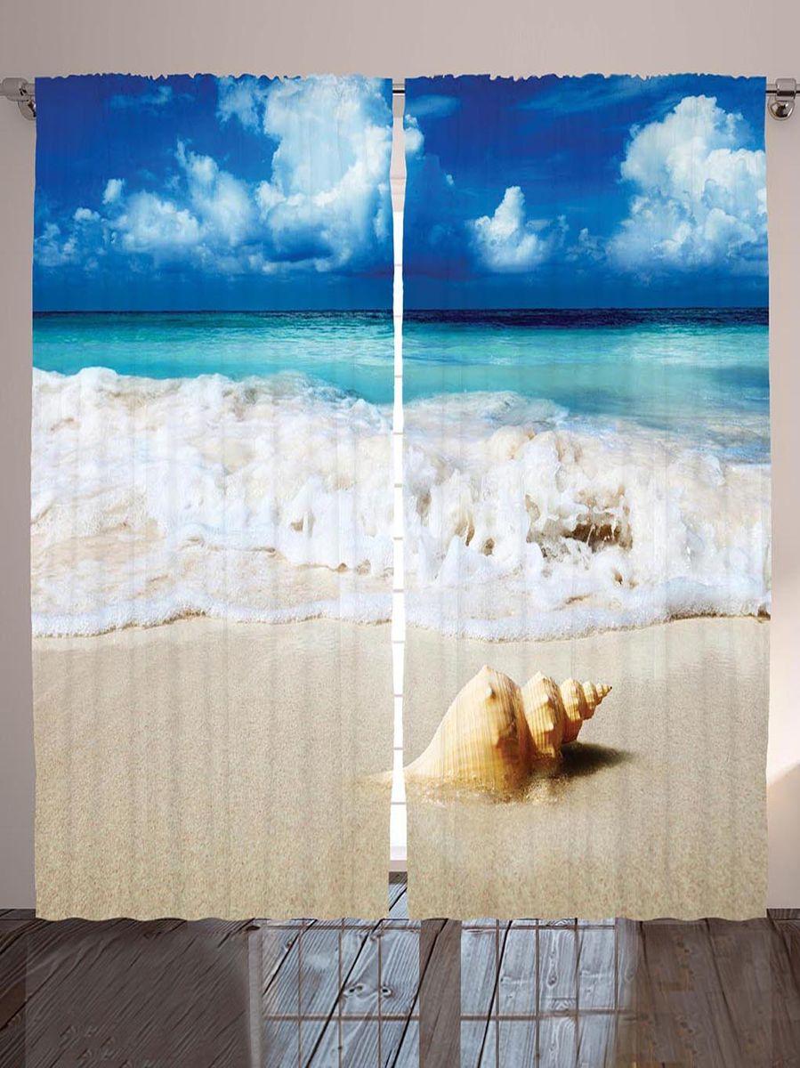 Комплект фотоштор Magic Lady Ракушка на песке, на ленте, высота 265 смшсг_8972Фотошторы Magic Lady Ракушка на песке, изготовленные из высококачественного сатена (полиэстер 100%), отлично дополнят любой интерьер. При изготовлении используются специальные гипоаллергенные чернила для прямой печати по ткани, безопасные для человека и животных. Крепление на карниз при помощи шторной ленты на крючки. В комплекте 2 шторы, 50 крючков. Ширина одного полотна: 145 см. Высота штор: 265 см. Изображение на мониторе может немного отличаться от реального.