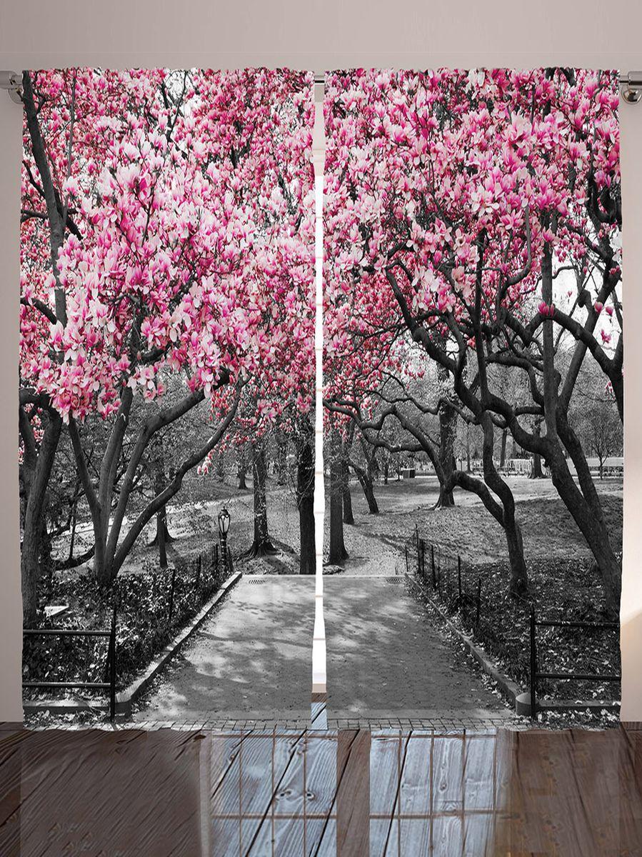 Комплект фотоштор Magic Lady Розовое соцветие весной, на ленте, высота 265 смшсг_9615Фотошторы Magic Lady Розовое соцветие весной, изготовленные из высококачественного сатена (полиэстер 100%), отлично дополнят любой интерьер. При изготовлении используются специальные гипоаллергенные чернила для прямой печати по ткани, безопасные для человека и животных. Крепление на карниз при помощи шторной ленты на крючки. В комплекте 2 шторы, 50 крючков. Ширина одного полотна: 145 см. Высота штор: 265 см. Изображение на мониторе может немного отличаться от реального.