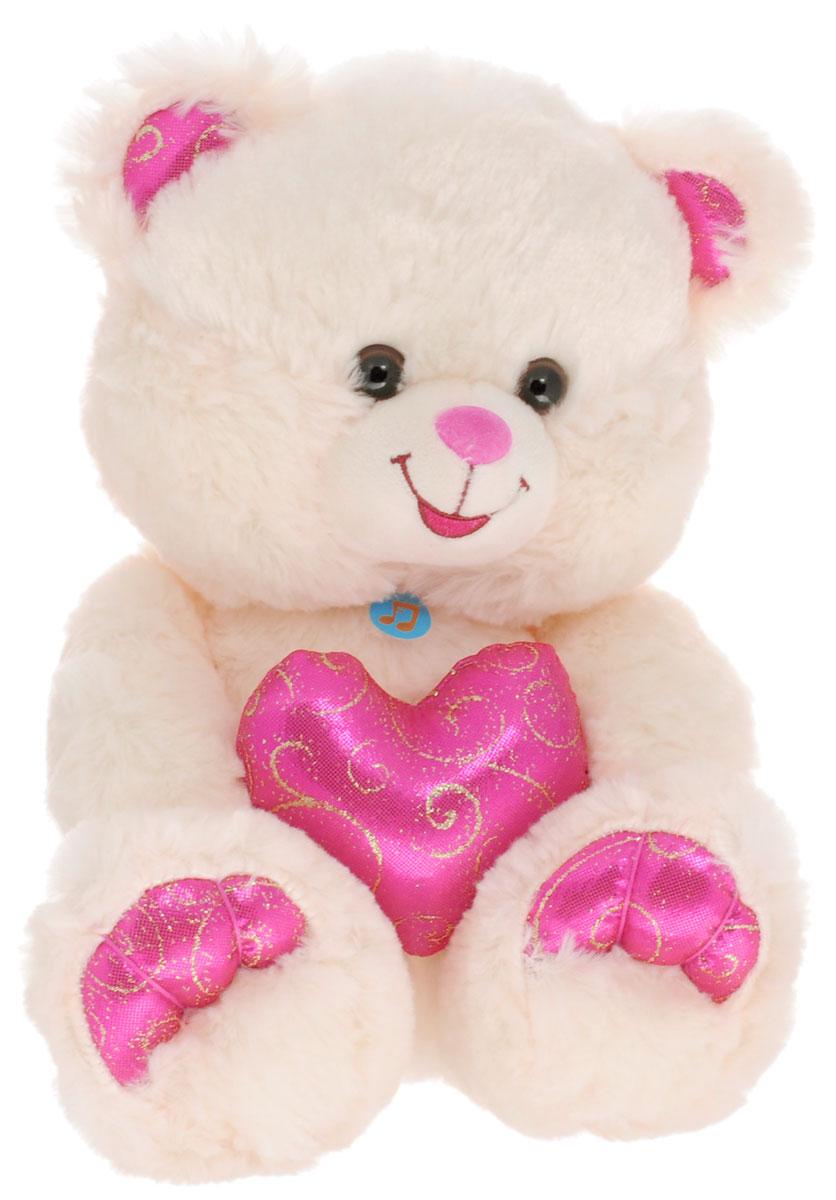 Lava Мягкая озвученная игрушка Медведь с малиновым сердцем 26 смLF 866Мягкая озвученная игрушка Lava Медведь с малиновым сердцем вызовет умиление и улыбку у каждого, кто ее увидит. Игрушка выполнена в виде милого медвежонка бежевого цвета, держащего в лапках подушку малинового цвета. Игрушка изготовлена из мягкого, приятного на ощупь искусственного меха и текстиля. Нажав на живот мишки, вы услышите стишок-признание в любви. Удивительно мягкая игрушка принесет радость и подарит своему обладателю мгновения нежных объятий и приятных воспоминаний. Великолепное качество исполнения делают эту игрушку чудесным подарком к любому празднику. Игрушка работает от незаменяемых батареек. Мягкие игрушки торговой марки Lava станут достойным выбором для вашего ребенка!