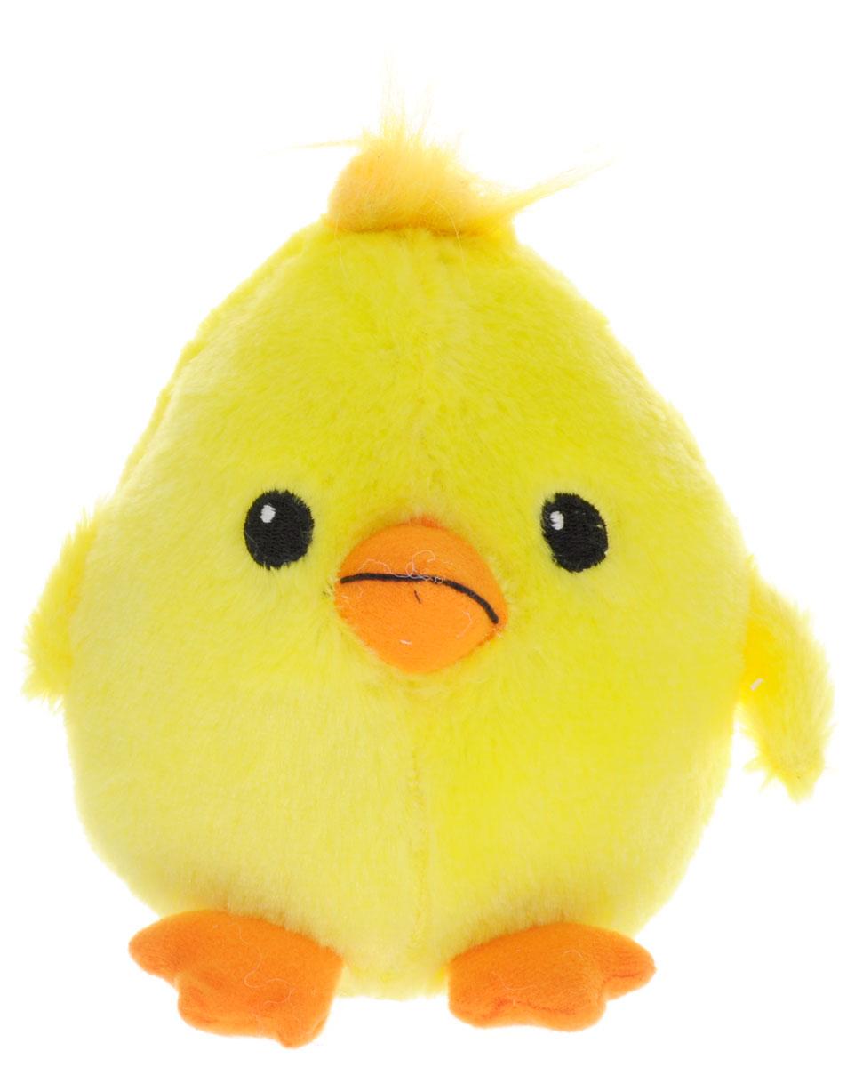 Gulliver Мягкая игрушка Цыпленок Солнышко с хохолком 12 см
