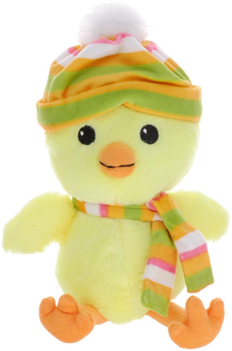Gulliver Мягкая игрушка Цыпленок Цыпа в шапочке с шарфом 20 см