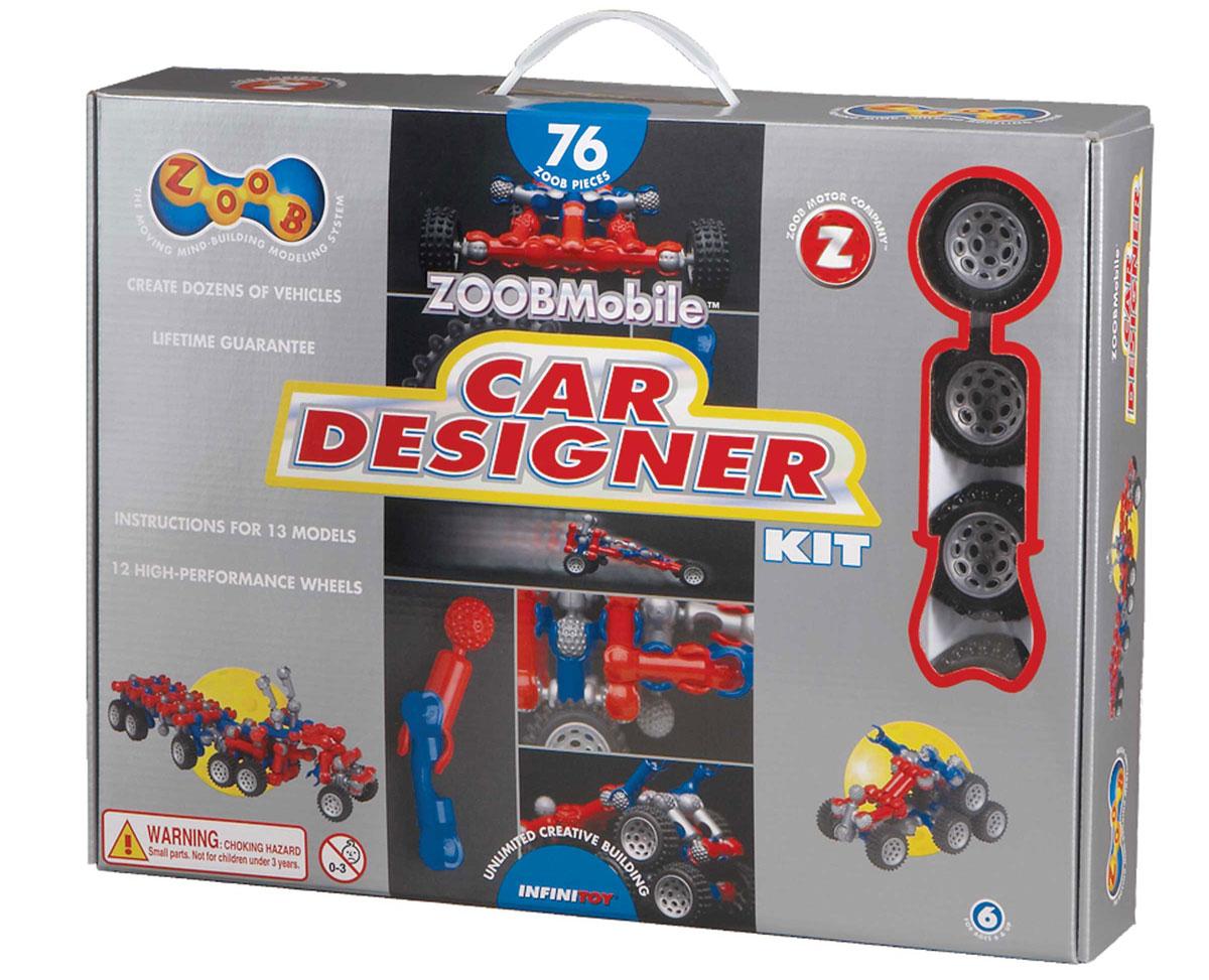 Zoob Конструктор Car Designer12052Zoob - подвижный многовариантный конструктор, завоевавший внимание детей и их родителей во всем мире. Конструктор Zoob Car Designer - прекрасный набор для юных изобретателей, который поможет детям ощутить себя одновременно в роли проектировщика, создателя и гонщика. В набор входят 76 деталей трех ярких гоночных цветов (красный, синий и серый) и 3 набора колес. Юный инженер сможет собирать уже существующие в инструкции пошаговые схемы моделей или разрабатывать свои собственные. Лимузин, грузовик, трейлер, луноход, джип, экскаватор - вот далеко не полный список того, что можно собрать из деталей конструктора. Три набора колес позволят создавать длинные гибридные машинки или одновременно три машинки. Благодаря этому ваш автолюбитель сможет устроить гоночные соревнования со своими друзьями. Элементы конструктора Zoob соединяются между собой более чем 20 различными способами. Представьте ту безграничность вариантов моделей, которые можно создать с помощью конструктора...