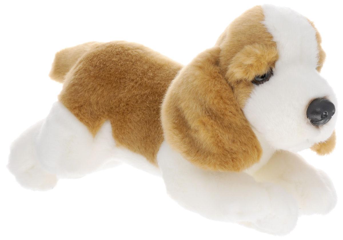 Soya Мягкая игрушка Щенок породы бассет-хаунд 22 см2127-1Мягкая игрушка Soya Щенок породы бассет-хаунд - прекрасный подарок любому ребенку. Любая современная игрушка - это больше, чем просто способ увлечь малыша. Игрушка выполнена из приятного на ощупь материала в виде забавной собаки коричнево-белого окраса. На мордочке щенка имеется выражение невероятной преданности. Эта игрушка может стать отличным другом для ребенка и для взрослого - ее мягкость и общий потешный вид смогут понравиться всем. Мягкие игрушки знакомят с животным миром нашей планеты, формируют цветовосприятие и способствуют концентрации внимания.