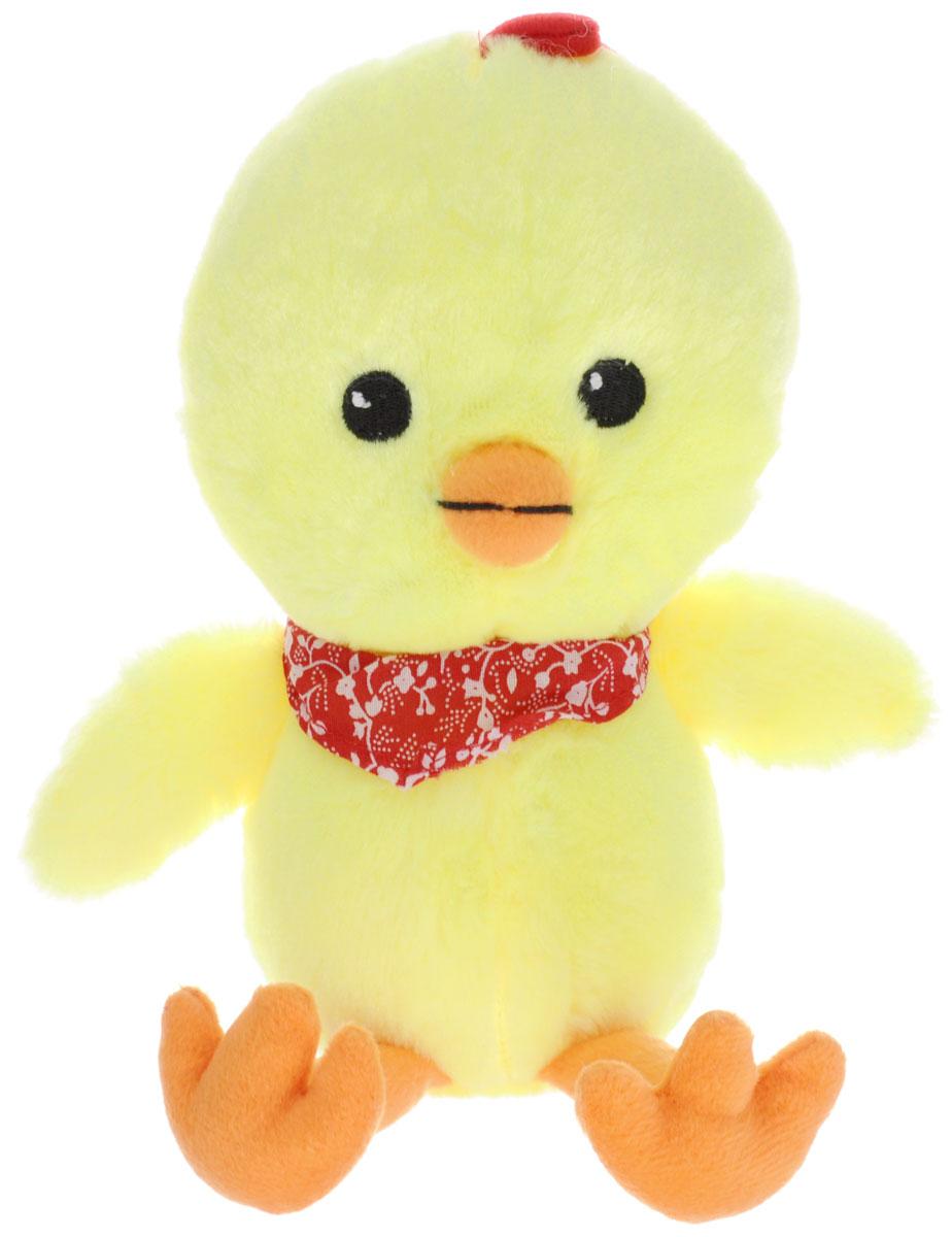 Gulliver Мягкая игрушка Цыпленок Цыпа в бандане 20 см66-OT159349_в банданеМягкая игрушка Gulliver Цыпленок Цыпа выполнена в виде желтого цыпленка с красной банданой на шее. Игрушка изготовлена из высококачественного материала и полностью безопасна для ребенка. Удивительно мягкая игрушка принесет радость и подарит своему обладателю мгновения нежных объятий и приятных воспоминаний. В процессе игры у крохи будет развиваться зрительная память, фантазия, логическое и образное мышление, ребенок научится сосредотачиваться на одном предмете, быть усидчивым и внимательным. Цыпленок (петух, курица) является символом 2017 года! Порадуйте себя и своих близких таким прекрасным символом, приносящим радость и счастье в каждый дом!