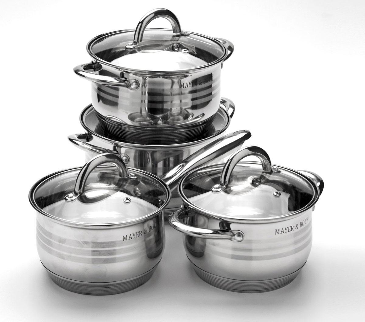 Набор посуды Mayer & Boch, 8 предметов. 24040240402+2+2,8+3,8л