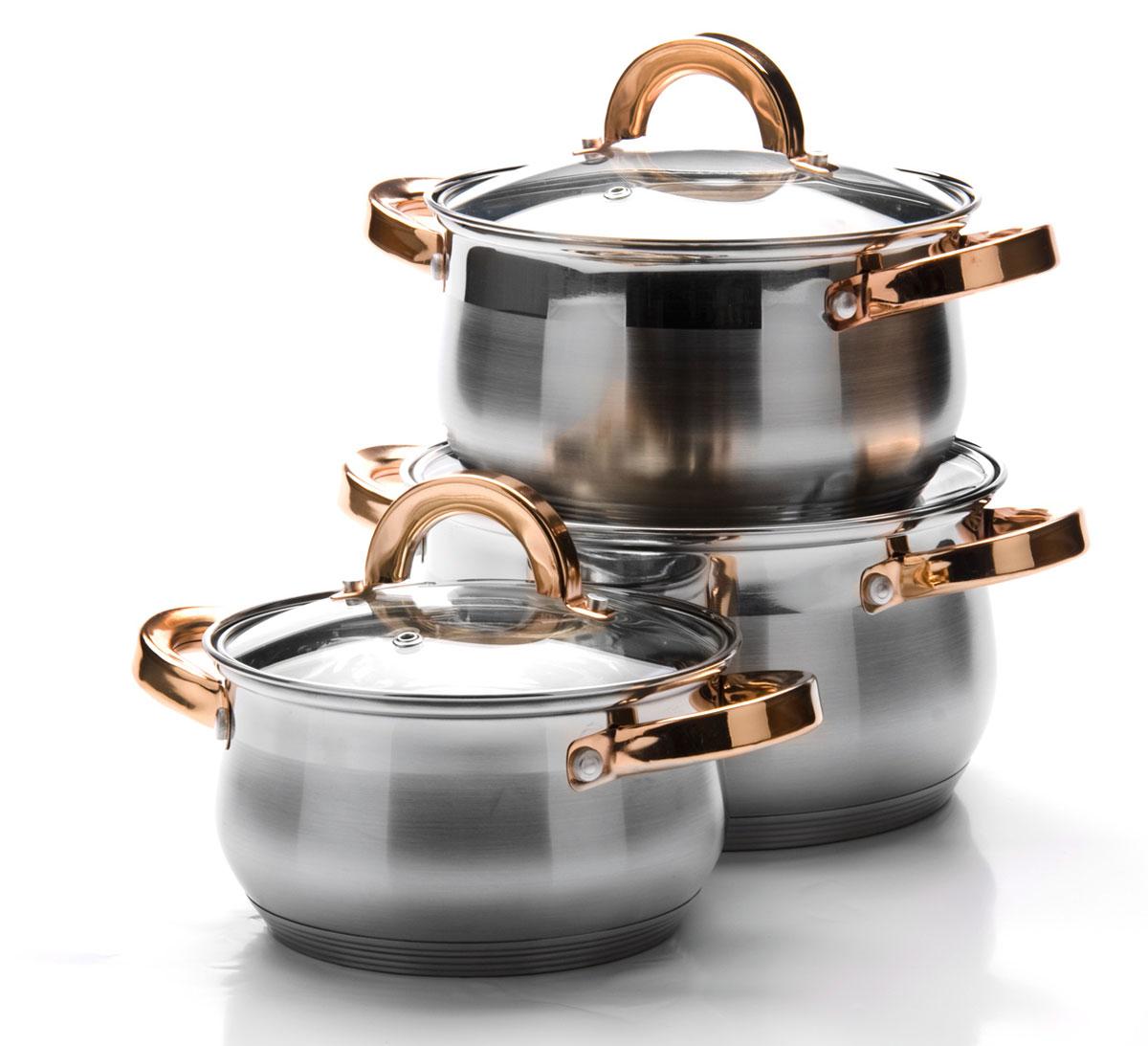 Набор посуды Mayer & Boch, 6 предметов. 25092250921,8+2,5+3,5л