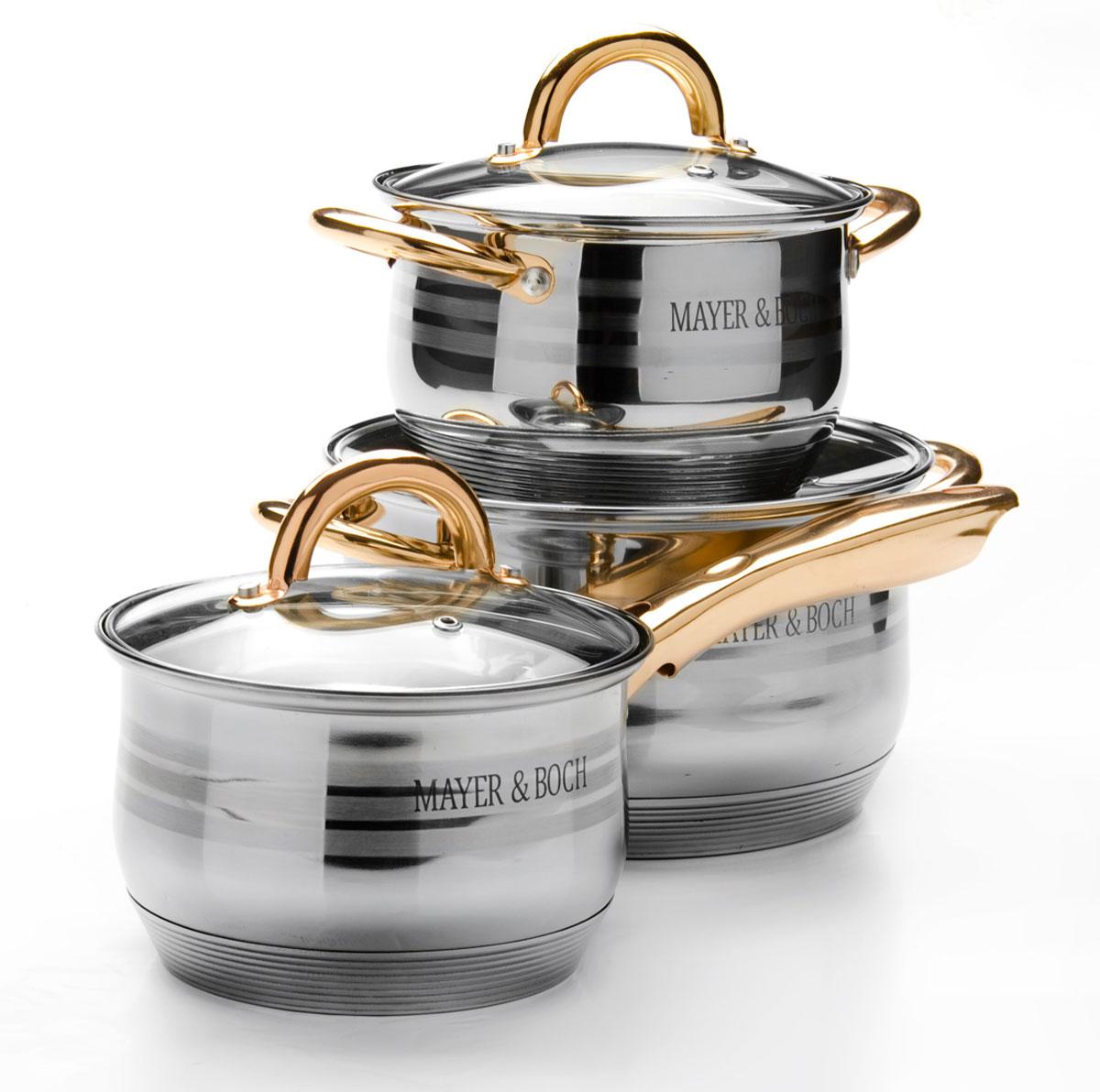 Набор посуды Mayer & Boch, 6 предметов. 25671256712,1+2,1+3,9л