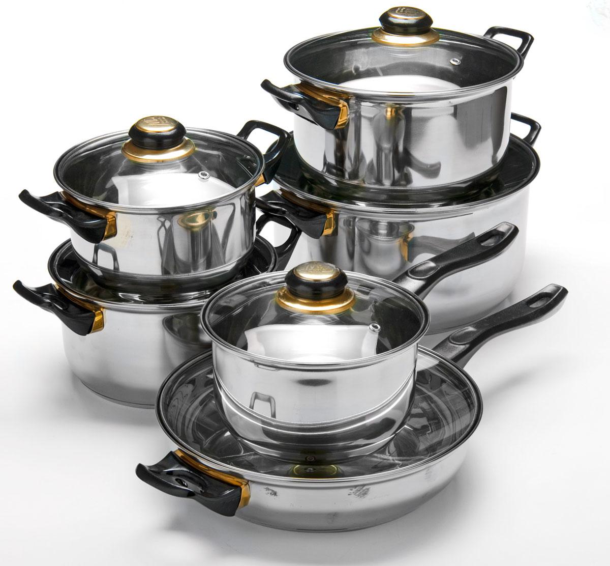 Набор посуды Mayer & Boch, 12 предметов. 25748257481,4+1,4+2+2,9+4,9+2л