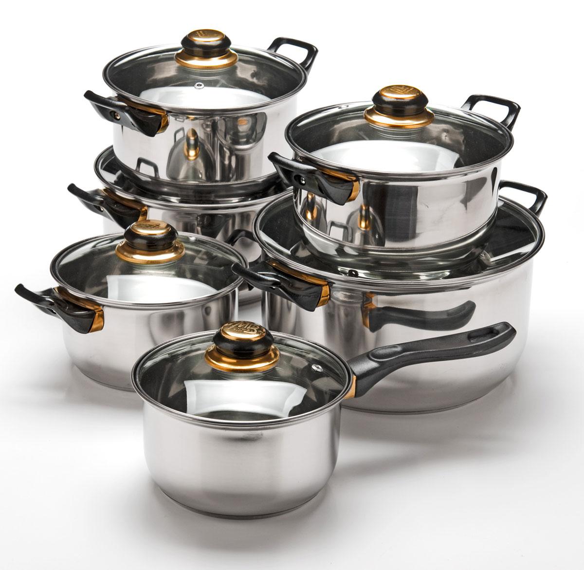 Набор посуды Mayer & Boch, 12 предметов. 25750257501,4+1,4+2+2+2,9+4,9л