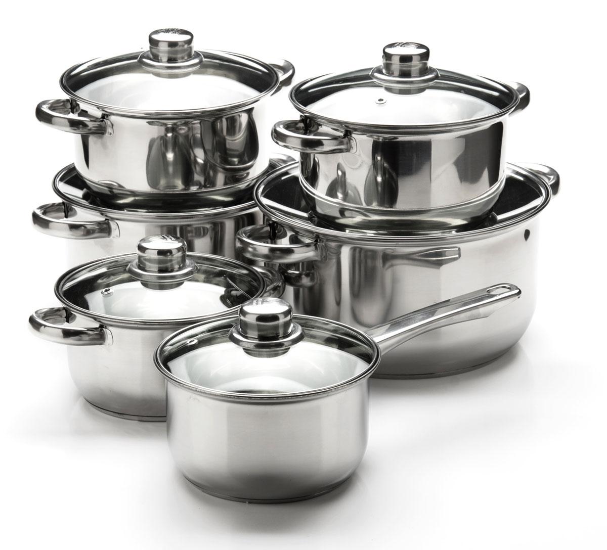 Набор посуды Mayer & Boch, 12 предметов. 25751257511,4+1,4+2+2+2,9+4,9л