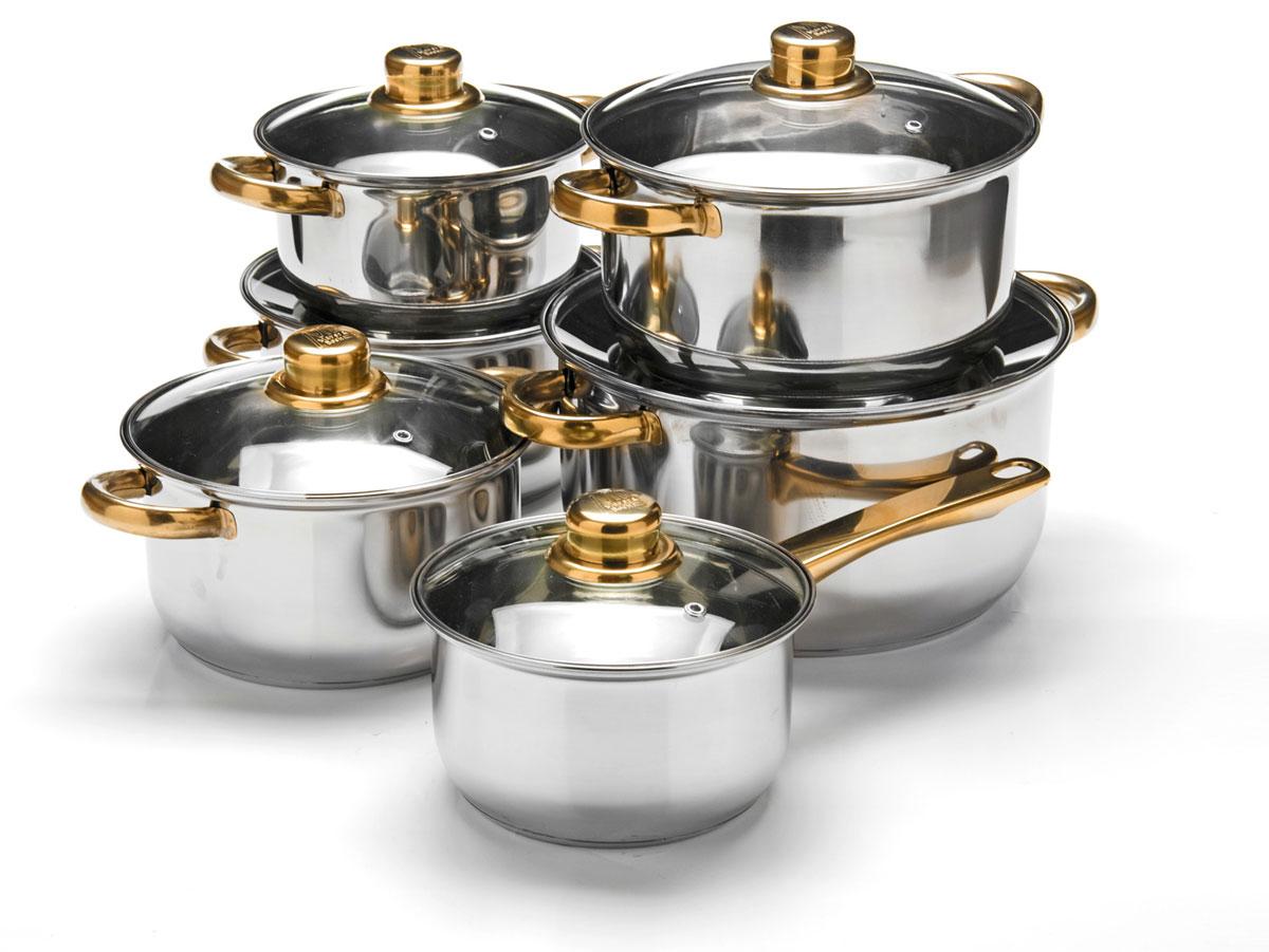 Набор посуды Mayer & Boch, 12 предметов. 25752257521,4+1,4+2+2+2,9+4,9л