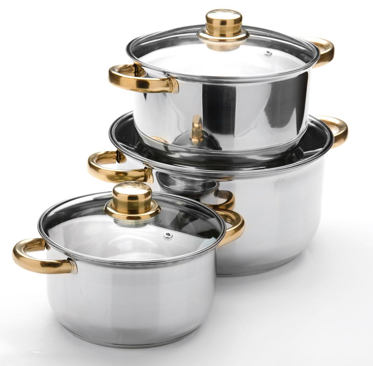 Набор посуды Mayer & Boch, 6 предметов. 25754257542+2,9+4,9л