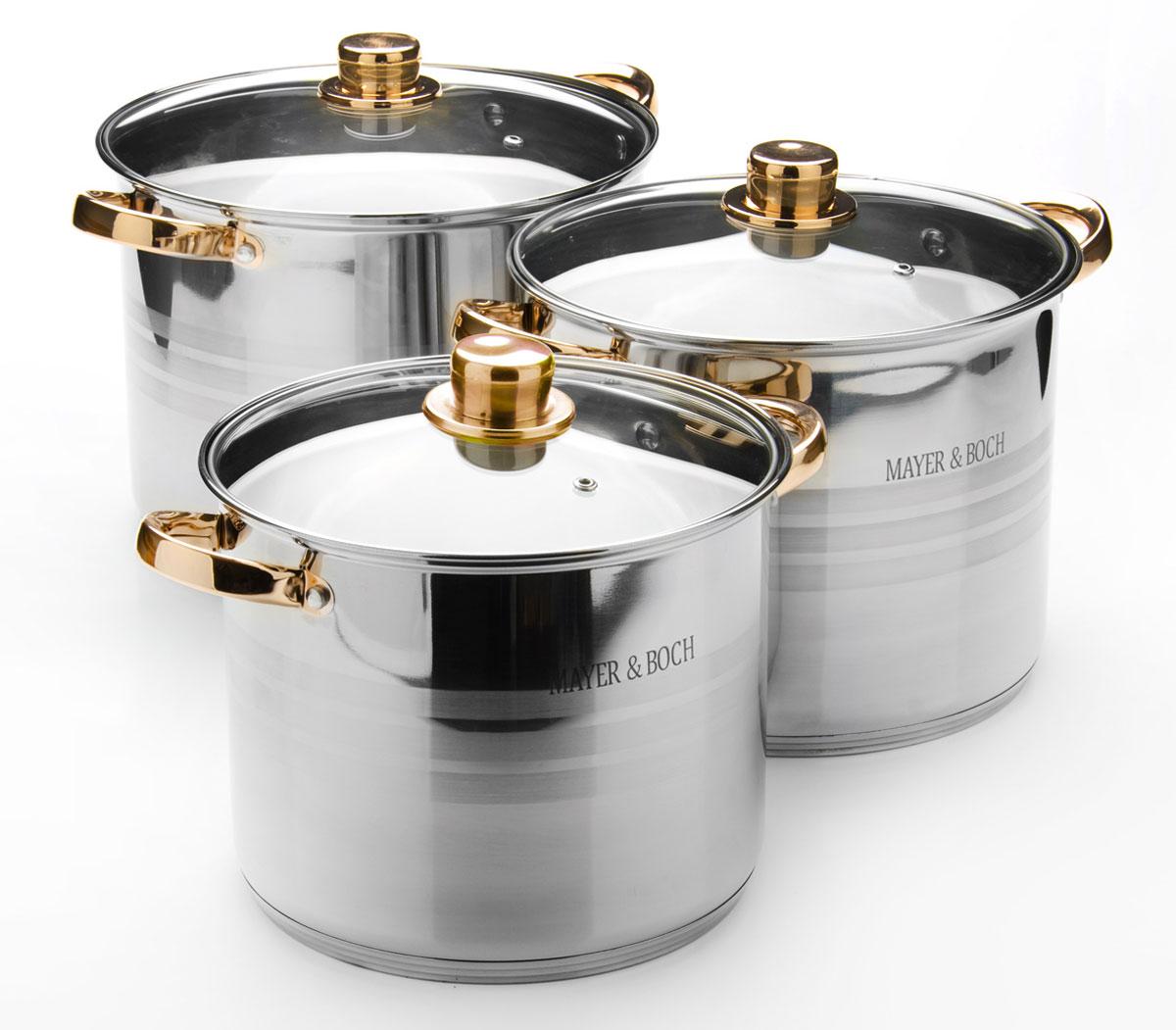 Набор посуды Mayer & Boch. 26032260326,8+8,6+10,8л