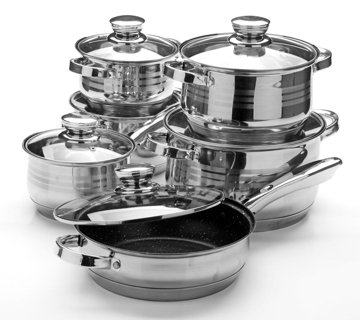 Набор посуды Mayer & Boch, 12 предметов. 26033260332,1+2,1+2,9+3,9+6,6+3,4
