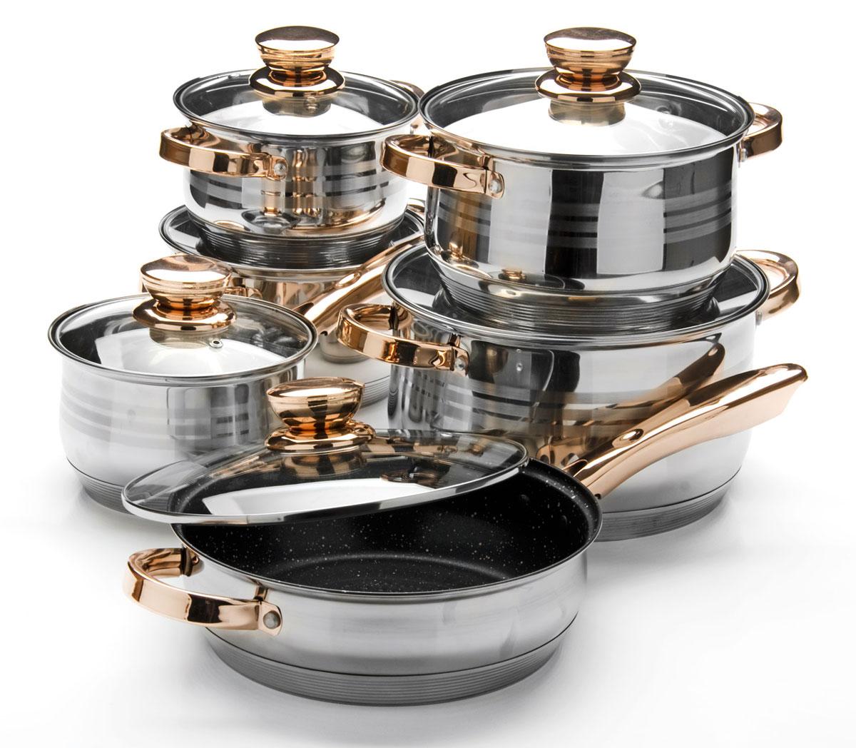 Набор посуды Mayer & Boch, 12 предметов. 26034260342,1+2,1+2,9+3,9+6,6+3,4