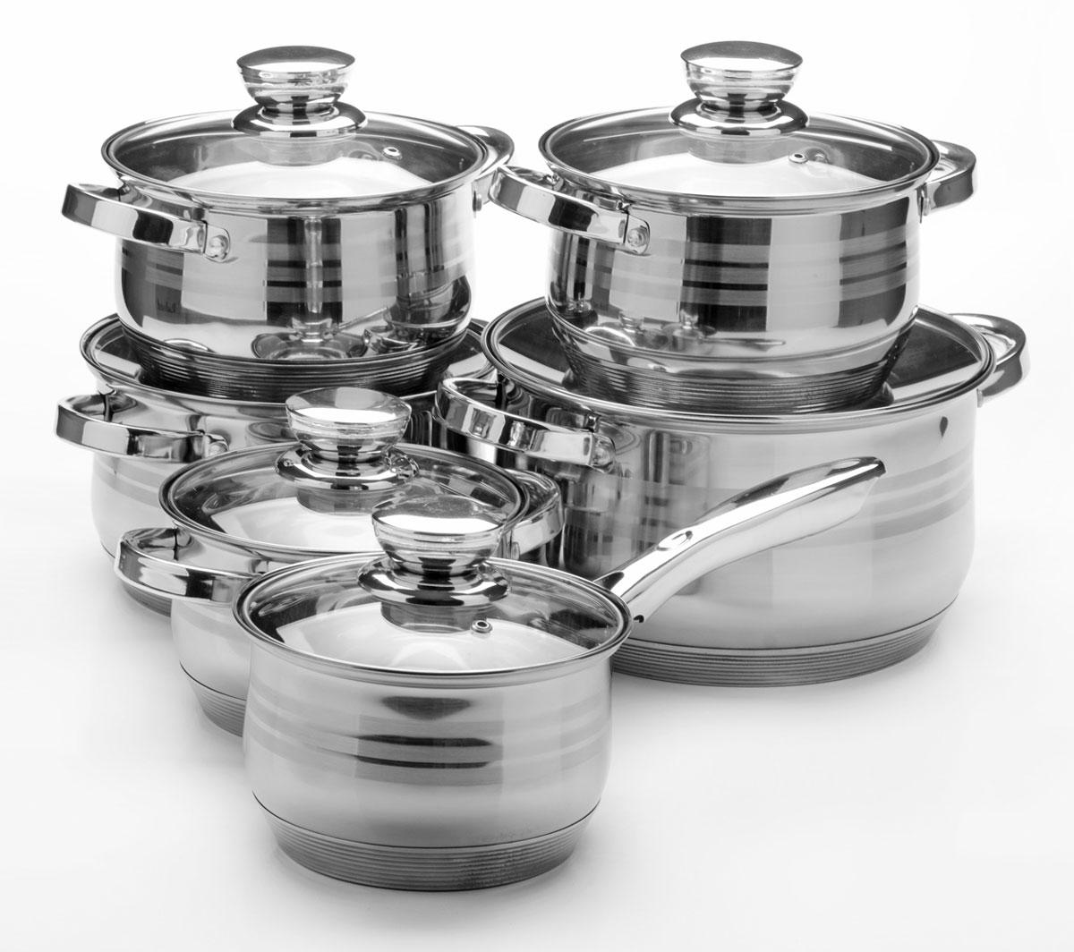 Набор посуды Mayer & Boch, 12 предметов. 26035260352,1+2,1+2,9+2,9+3,9+6,6л