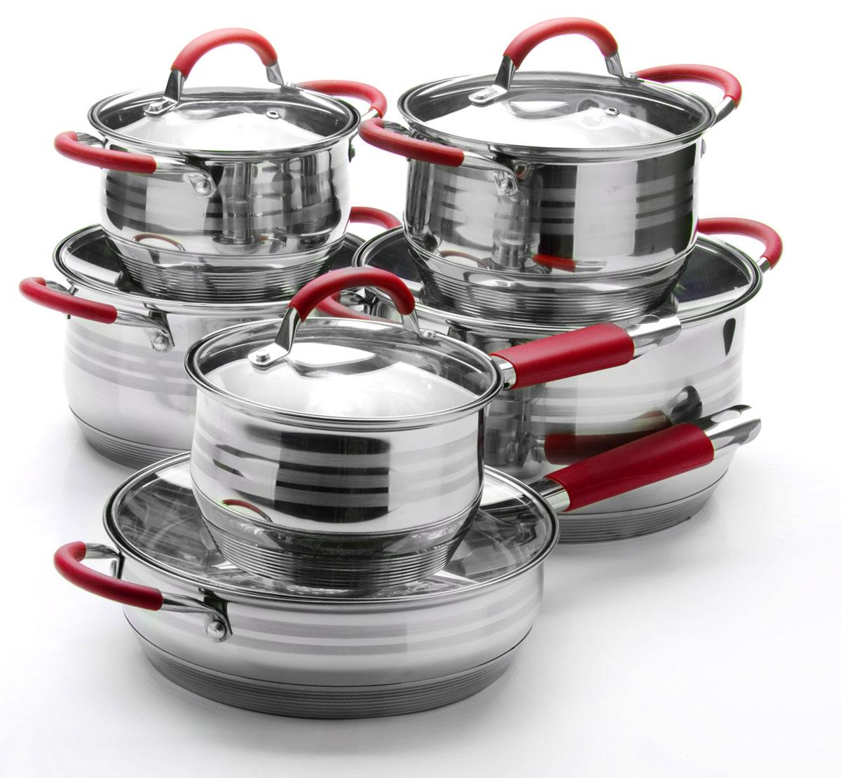 Набор посуды Mayer & Boch, 12 предметов. 26037260372,1+2,1+2,9+3,9+6,6+3,4