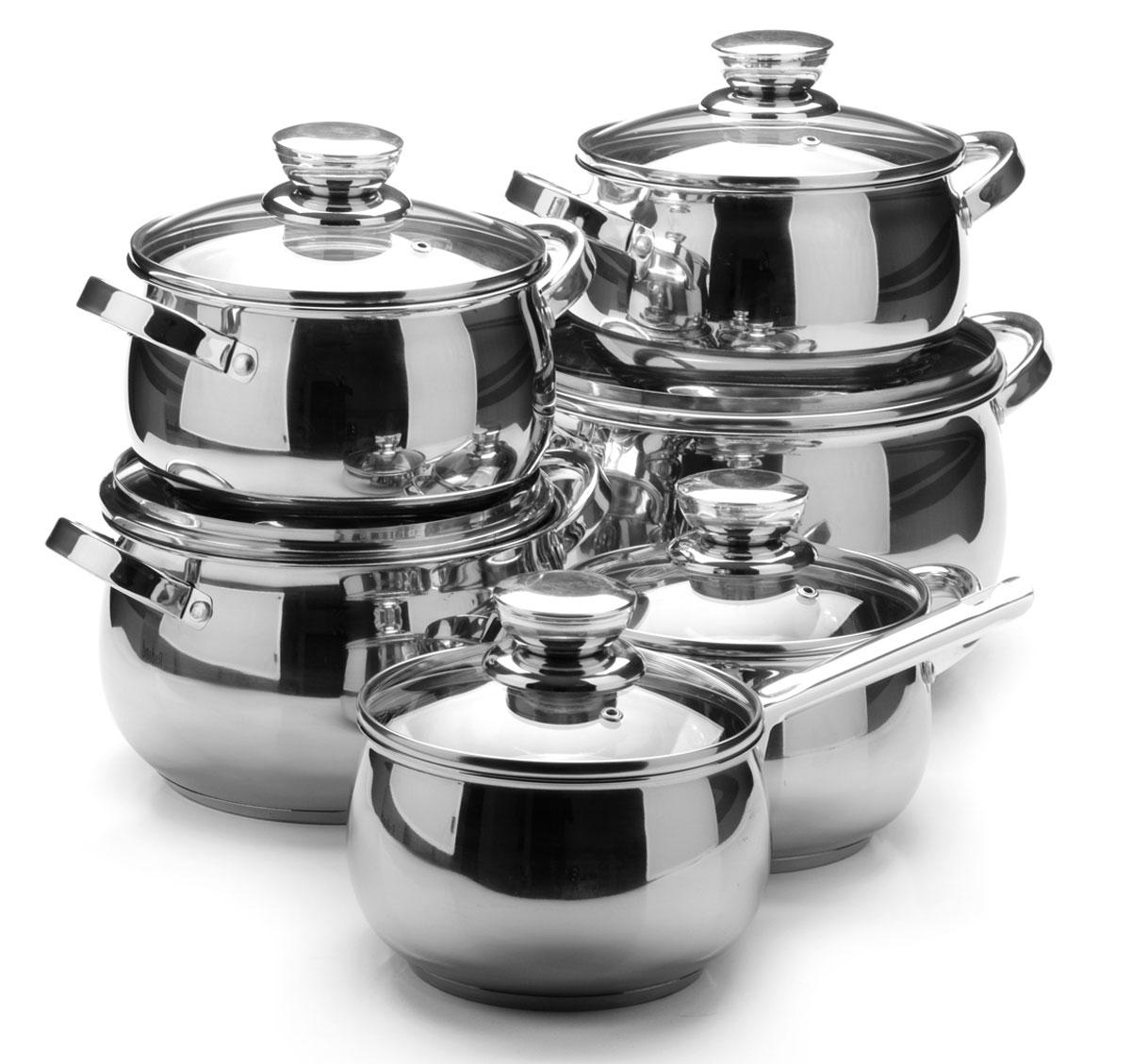 Набор посуды Mayer & Boch, 12 предметов. 26039260392,1+2,1+2,9+3,9+6,6+3,4