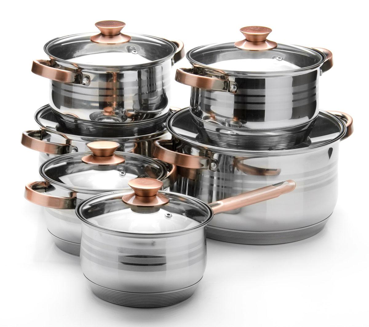 Набор посуды Mayer & Boch, 12 предметов. 26043260432,1+2,1+2,9+2,9+6,6+8л