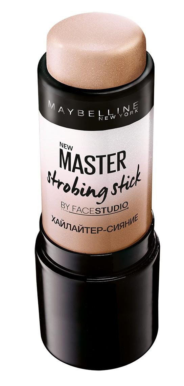 Maybelline New York Хайлайтер-стик Master Strobing для сияния кожи, оттенок 200 Бежевый шампань, 9 мл maybelline new york суперстойкая компактная пудра superstay24 оттенок 30 золотисто бежевый 9 г