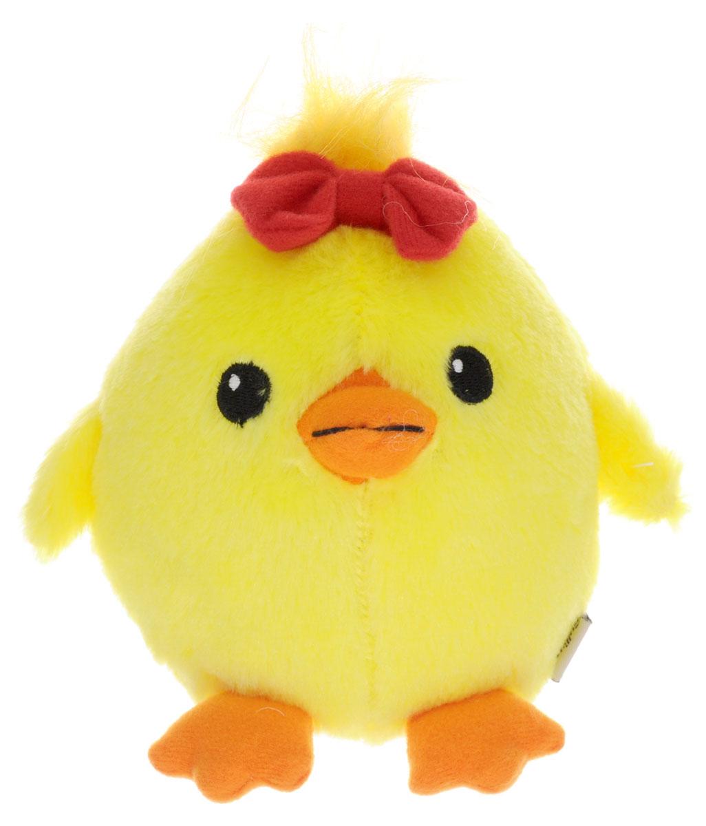 Gulliver Мягкая игрушка Цыпленок Солнышко с бантиком 12 см