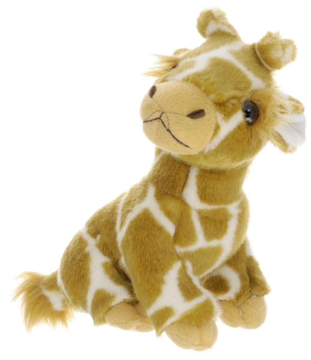 Soya Мягкая игрушка Жираф 19 см1035BМягкая игрушка Soya Жираф будет отличным подарком для ребенка, который любит животных. Любая современная игрушка - это больше, чем просто способ увлечь малыша. Игрушка выполнена из приятного на ощупь материала в виде жирафа. Жираф имеет коричнево-белую окраску шерсти и черные глазки. Эта игрушка может стать отличным другом и для ребенка и для взрослого - ее мягкость и общий потешный вид смогут понравиться всем. Мягкие игрушки знакомят с животным миром нашей планеты, формируют цветовосприятие и способствуют концентрации внимания.